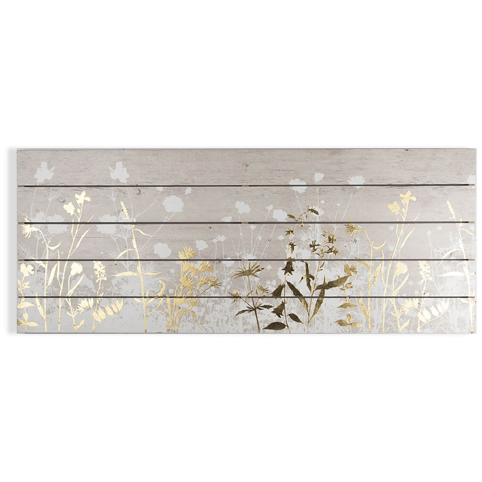 Art for the Home Metallic Wood Meadow Print on Wood