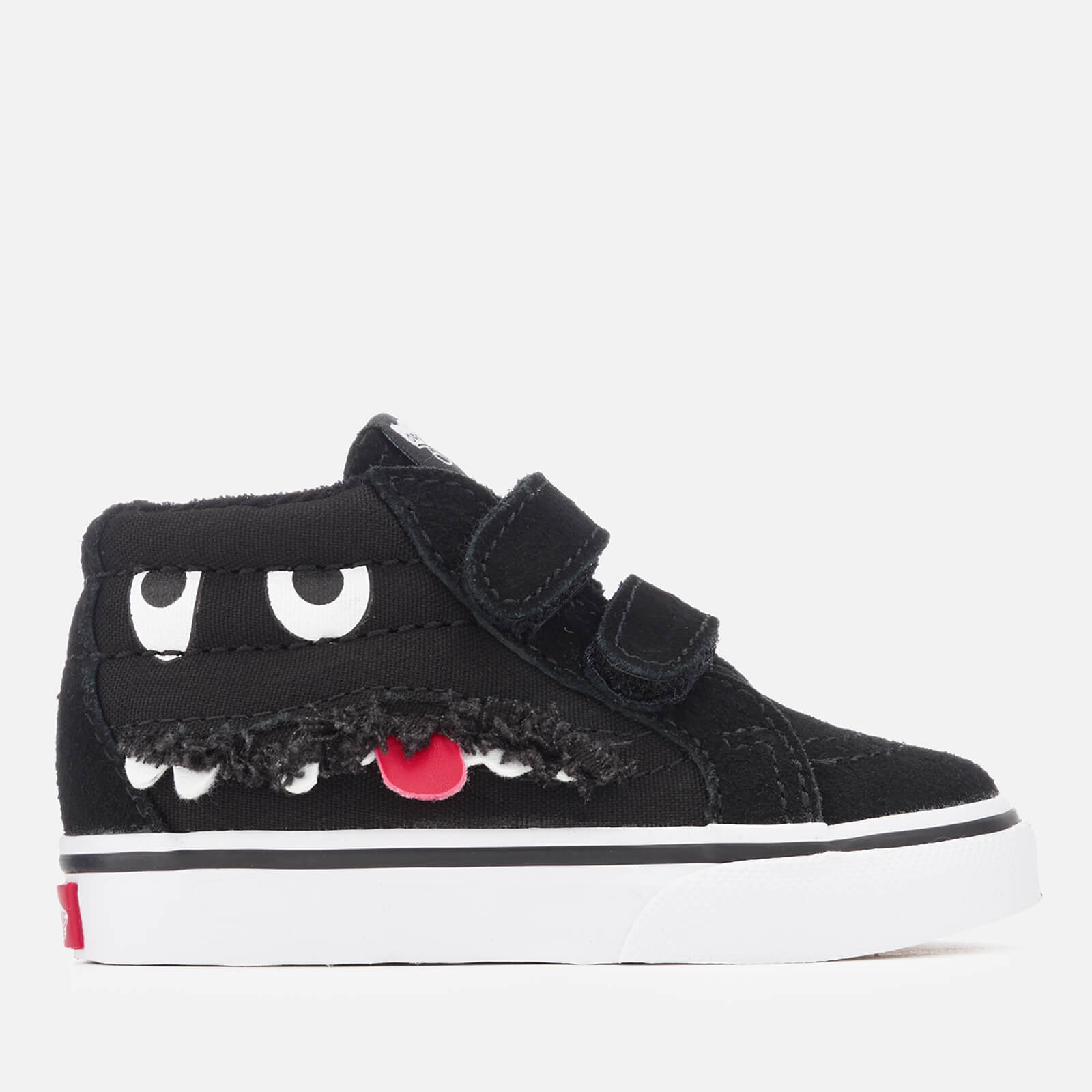 58ac69f17f ... Vans Toddlers  Sk8-Mid Reissue Velcro Monster Face Trainers - Black True  White
