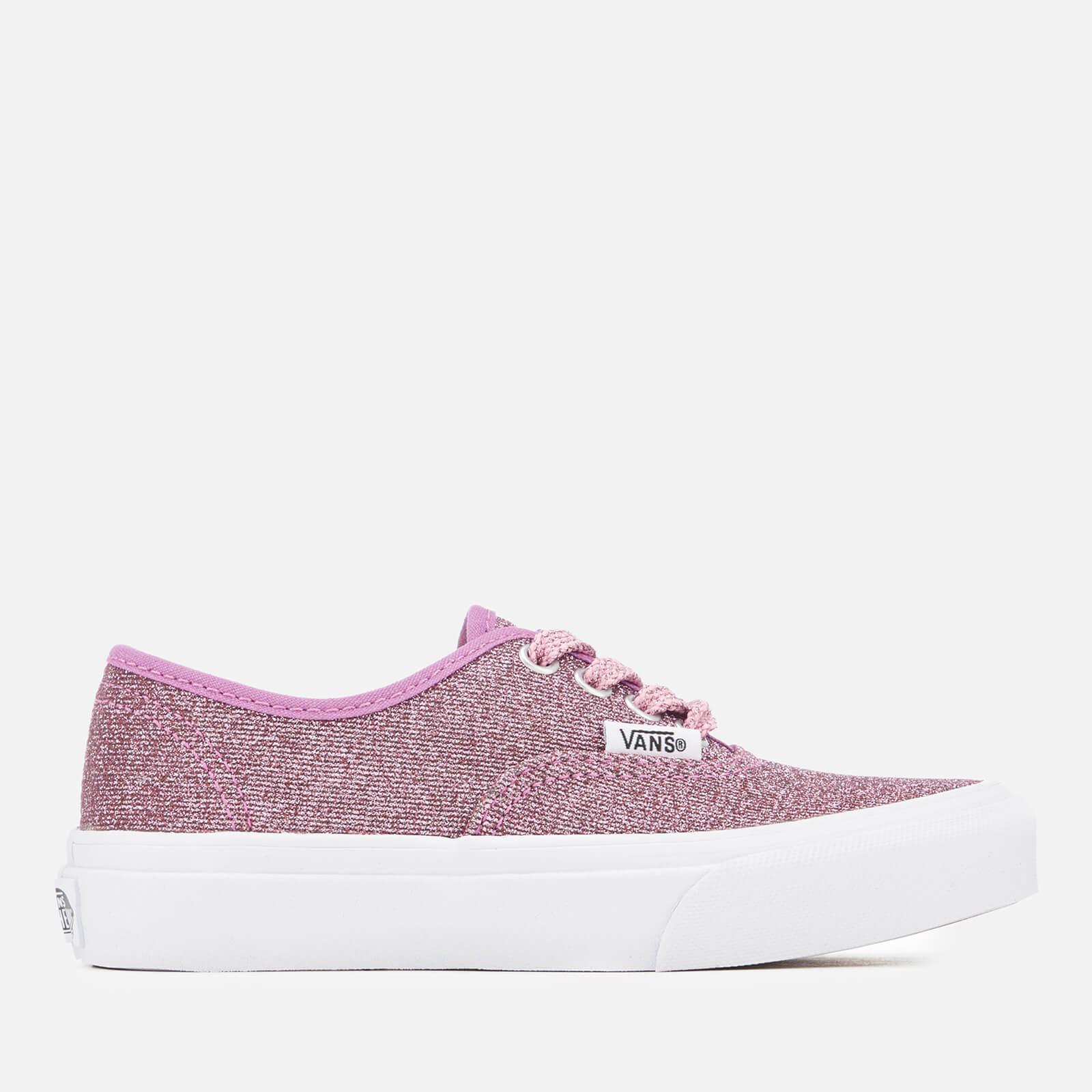 3abd1e755f Vans Kids  Authentic Lurex Glitter Trainers - Pink True White Junior ...