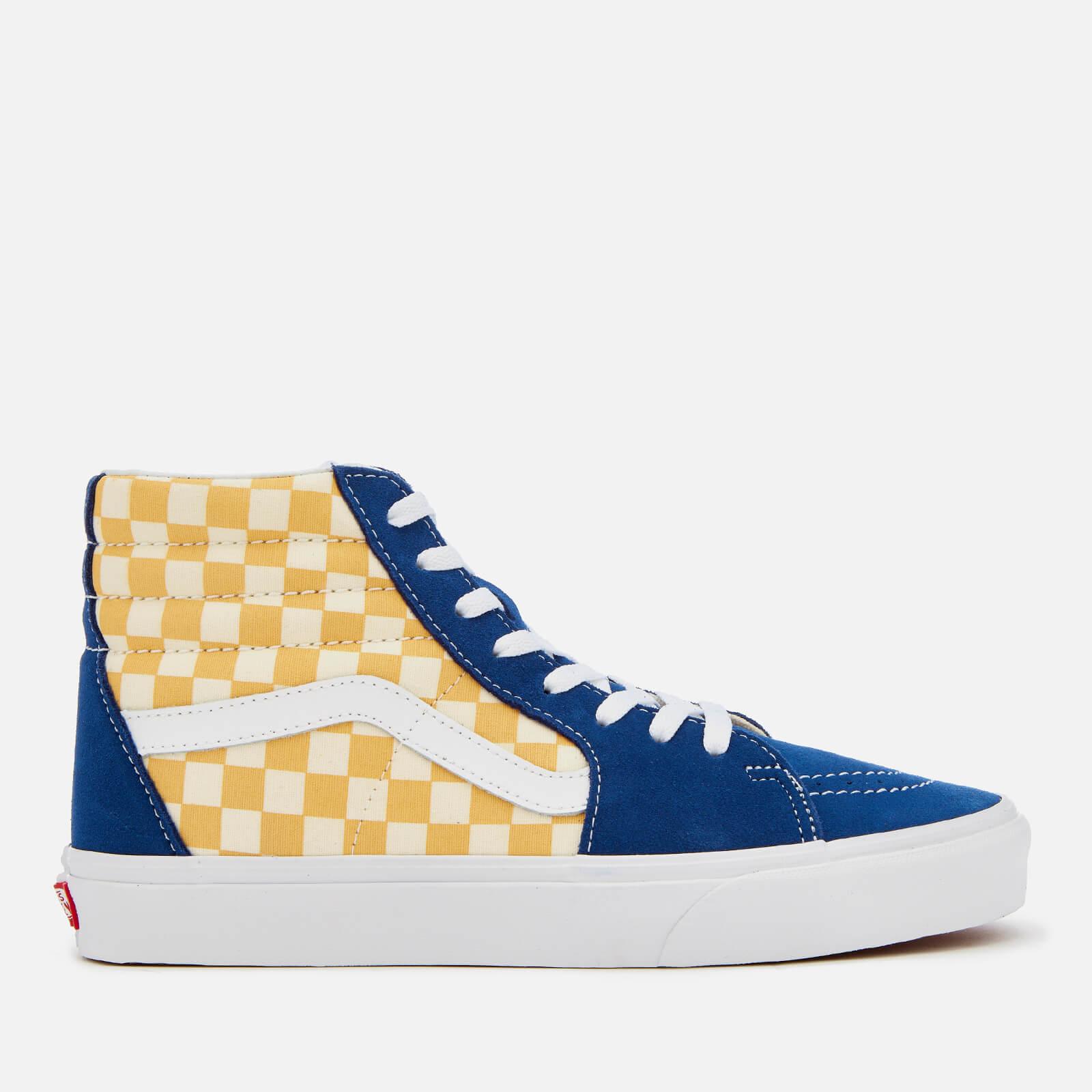 c4d6736047d07b Vans Men s Sk8-Hi BMX Checkerboard Trainers - True Blue Yellow Clothing