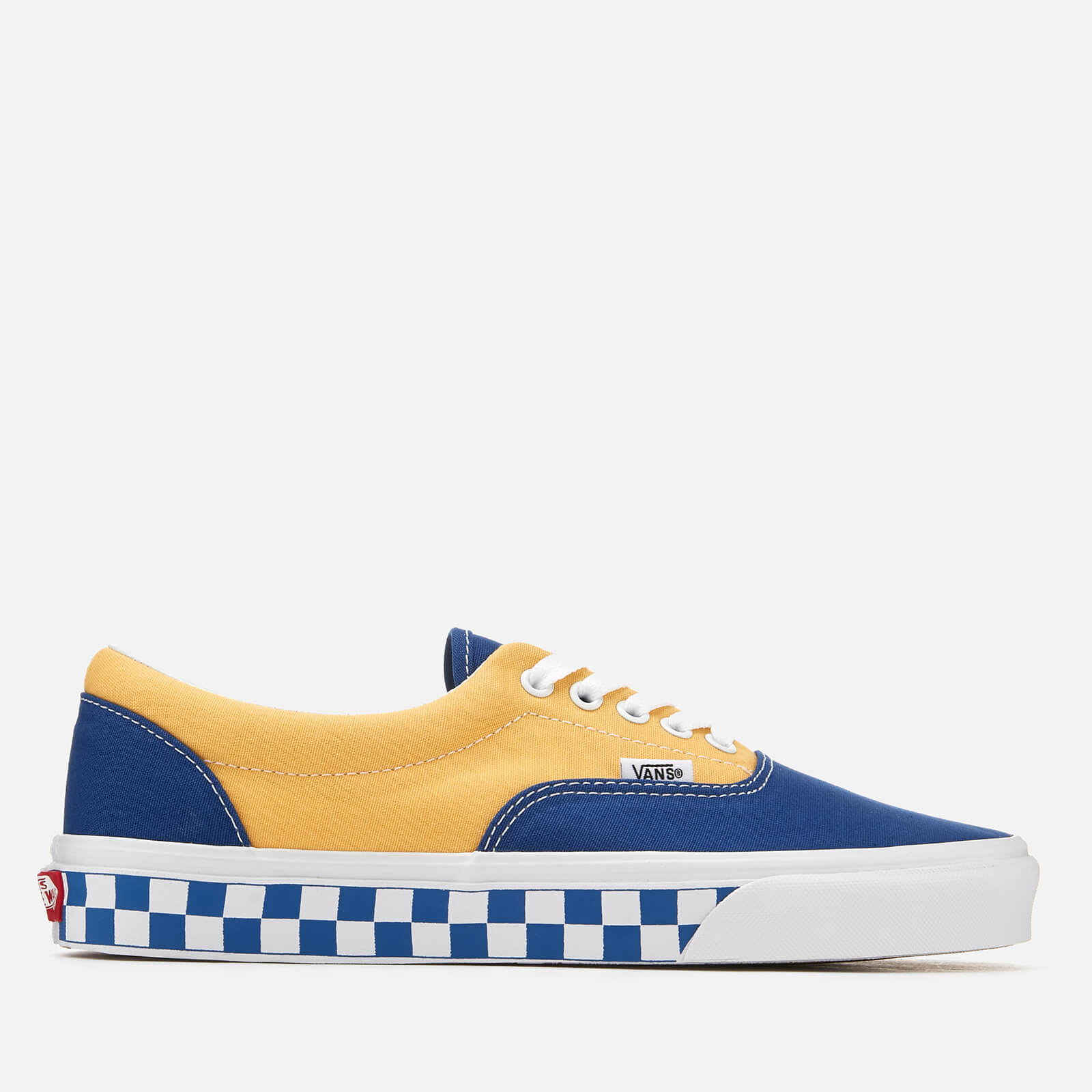 41b823751e Vans Men s Era BMX Checkerboard Trainers - True Blue Yellow Clothing ...