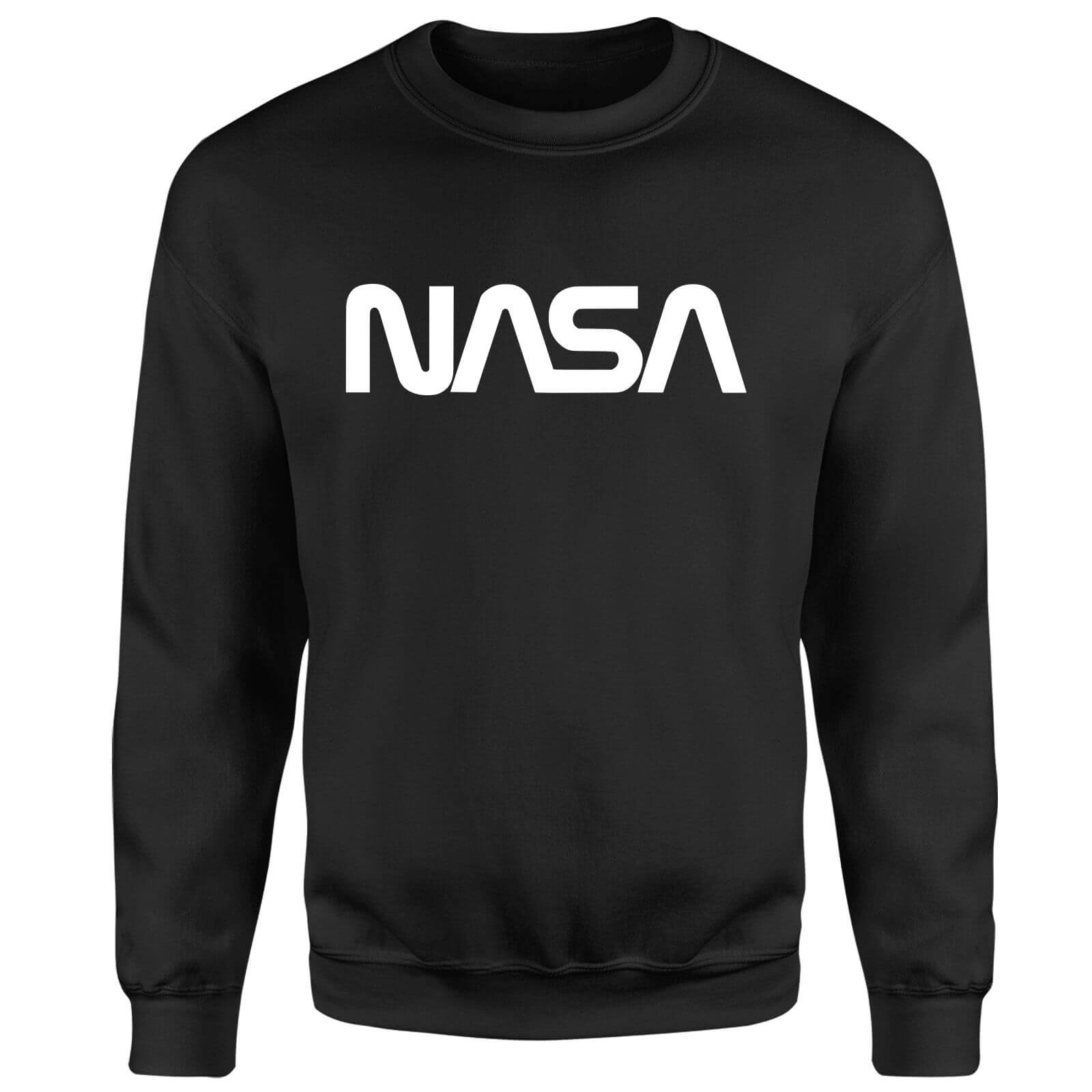 NASA Worm White Logotype Sweatshirt - Black
