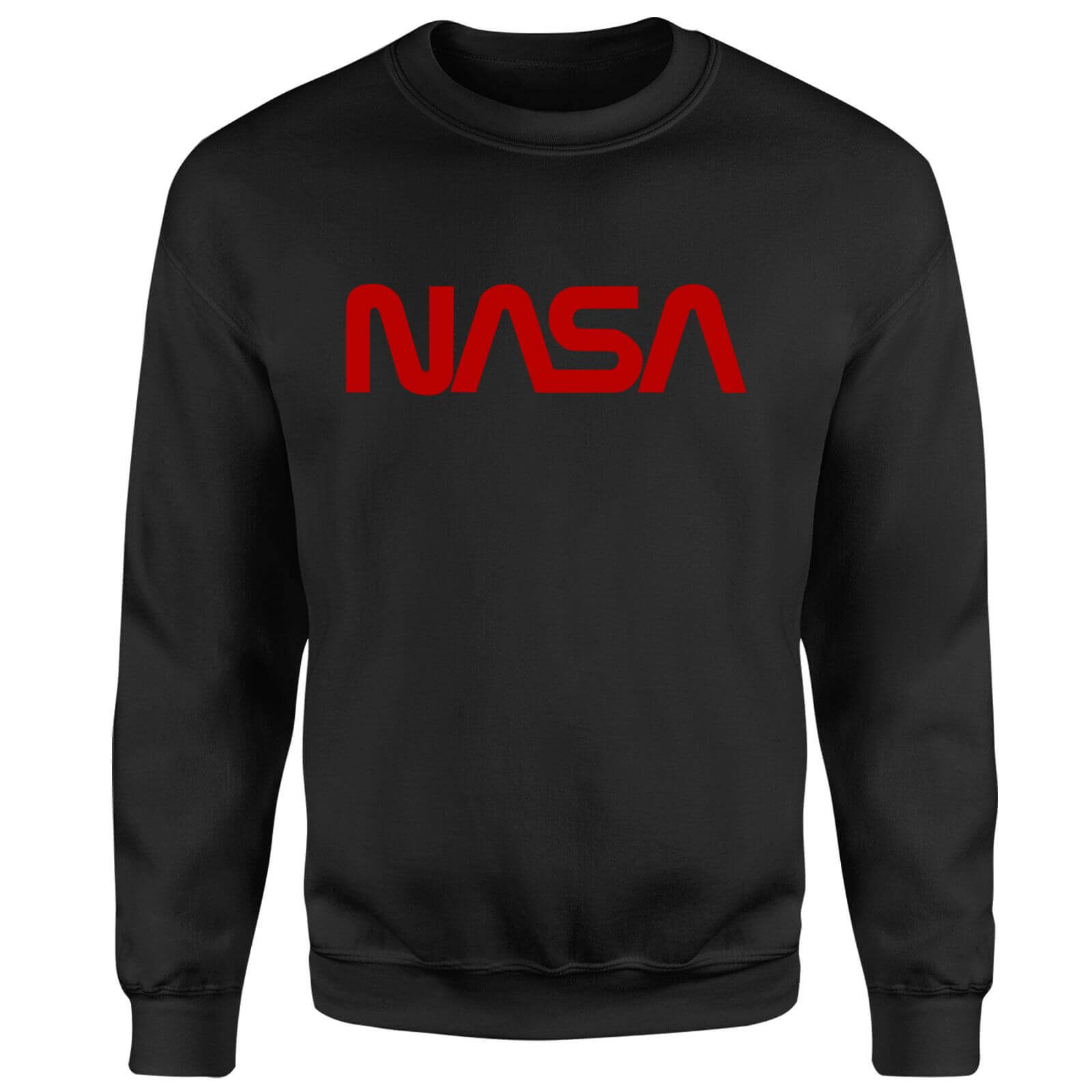 NASA Worm Red Logotype Sweatshirt - Black