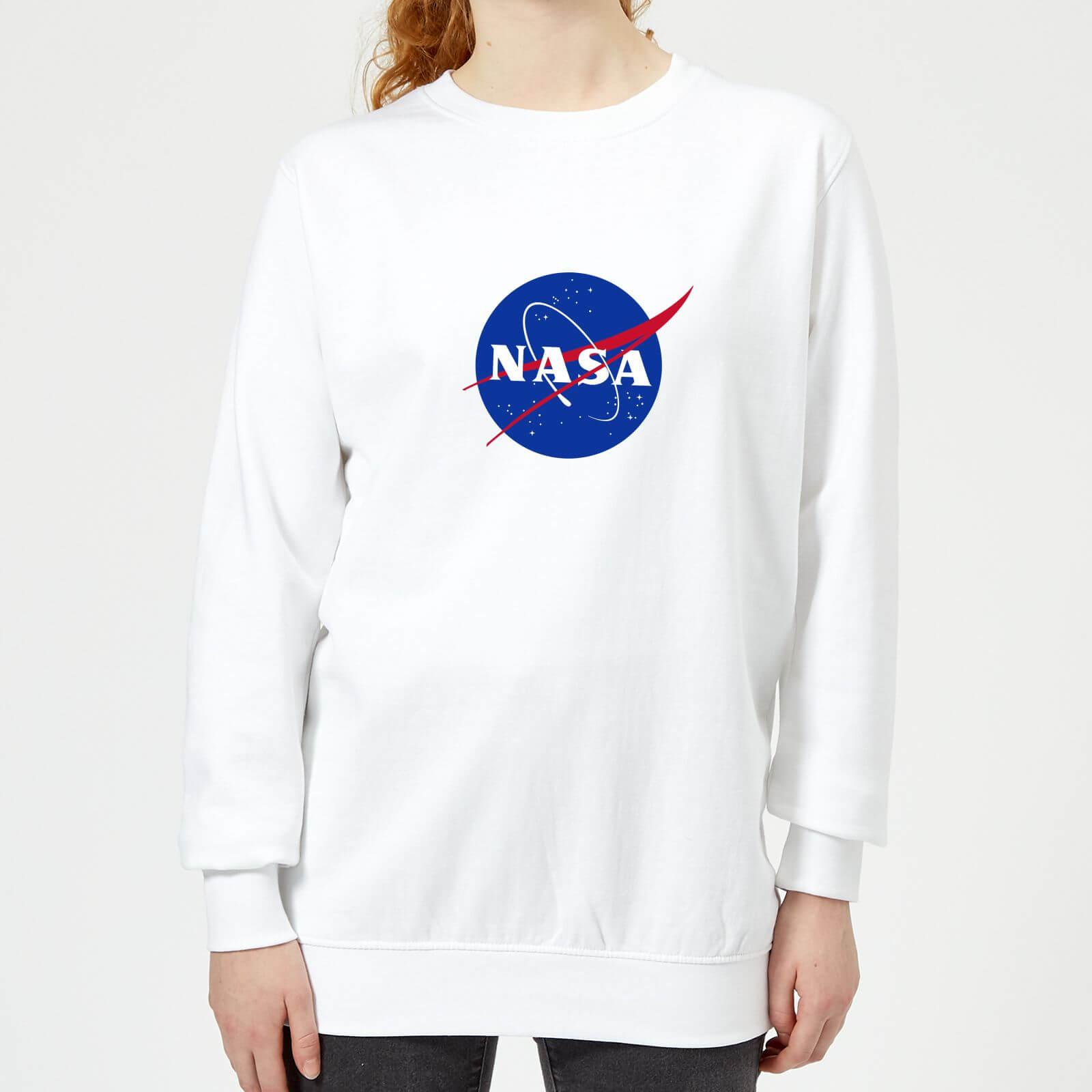 d8f9abdbd7c NASA Logo Insignia Women's Sweatshirt - White Clothing | Zavvi