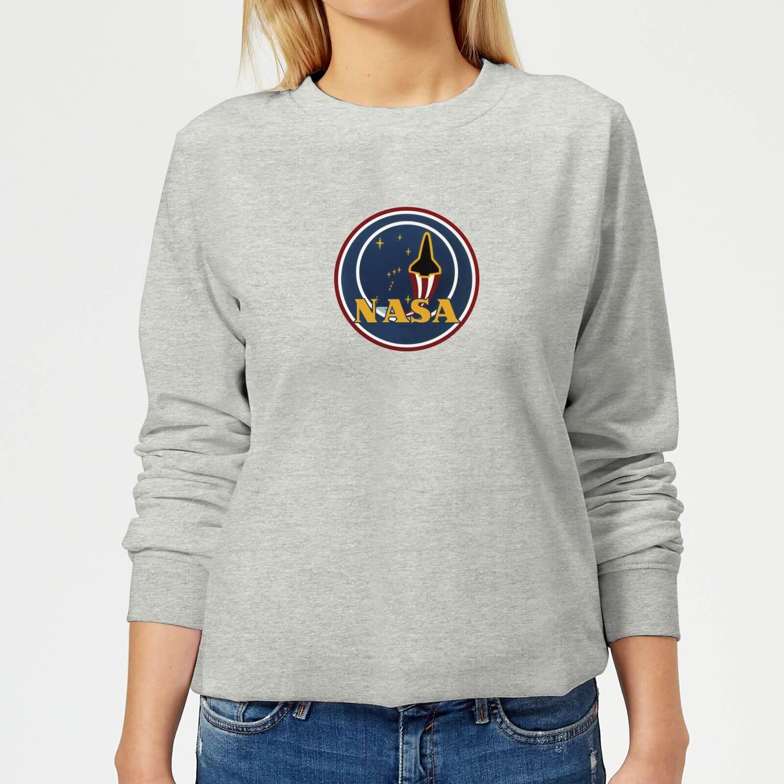 e6c8f670 NASA JM Patch Women's Sweatshirt - Grey Clothing | Zavvi