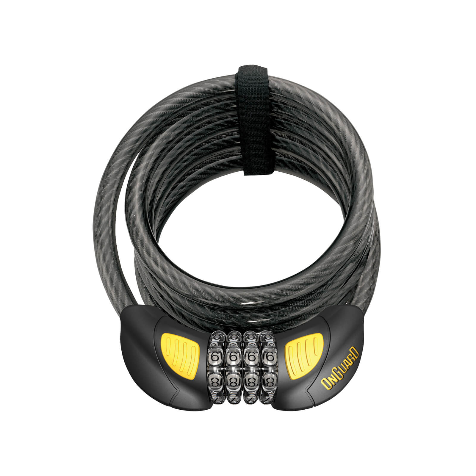 OnGuard Doberman LED Combo Coil Lock - 185cm x 12mm