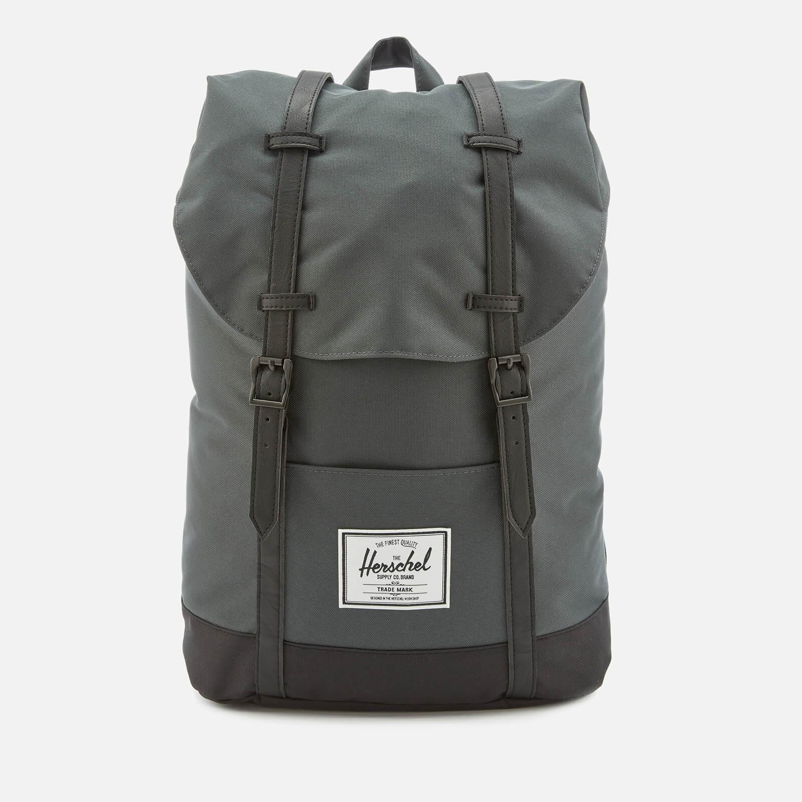 a0391543dd Herschel Supply Co. Men s Retreat Backpack - Dark Shadow Black ...