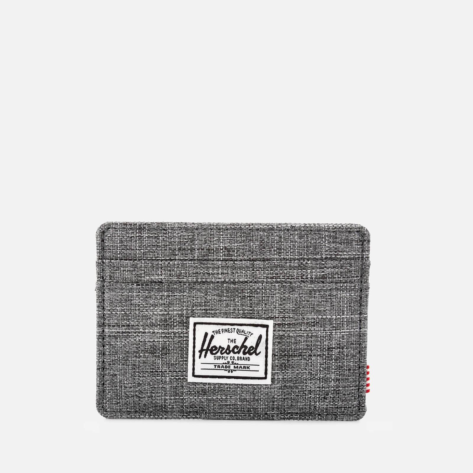 9d554e2828f Herschel Supply Co. Men s Charlie Card Holder - Raven Crosshatch Clothing