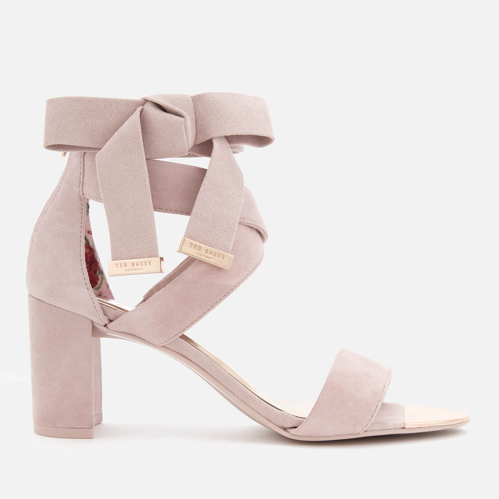 35585005944 Ted Baker Women s Noxen 2 Suede Block Heeled Sandals - Mink Pink ...