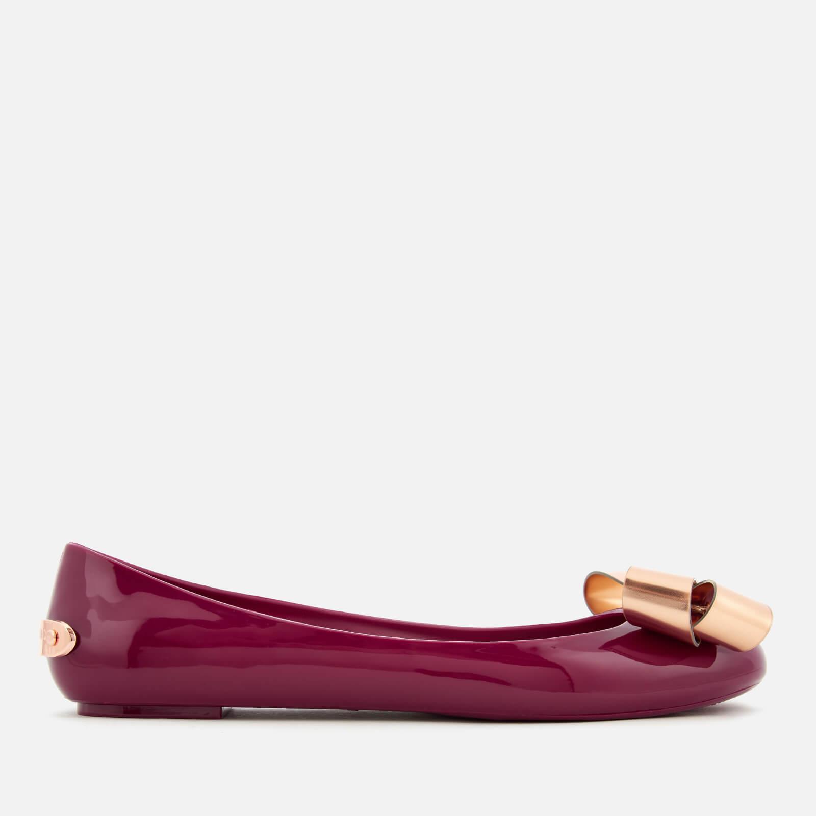 efa773cc1 Ted Baker Women s Larmiap Bow Ballet Flats - Maroon Serenity Womens  Footwear