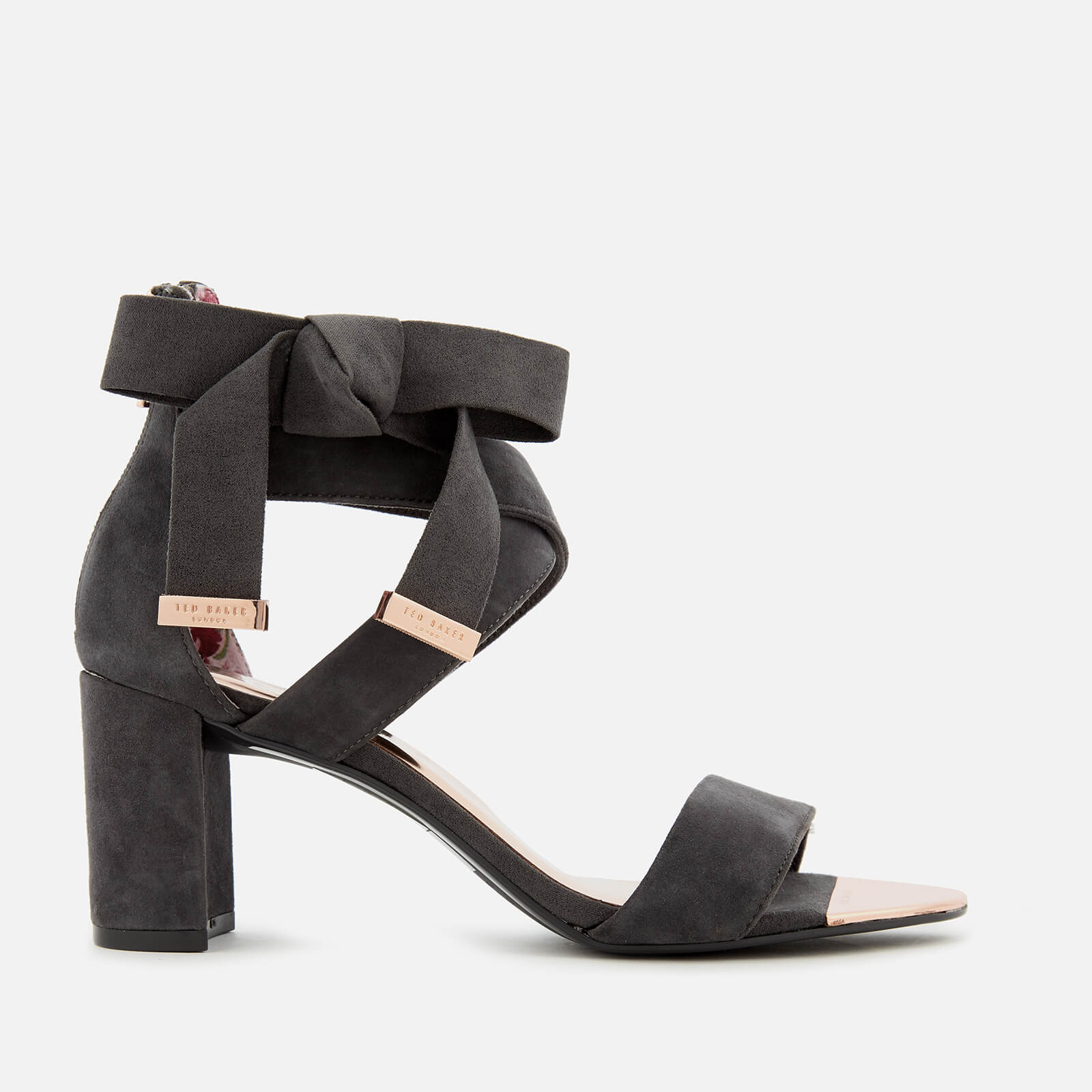 51dc0148319 Ted Baker Women s Noxen 2 Suede Block Heeled Sandals - Charcoal ...