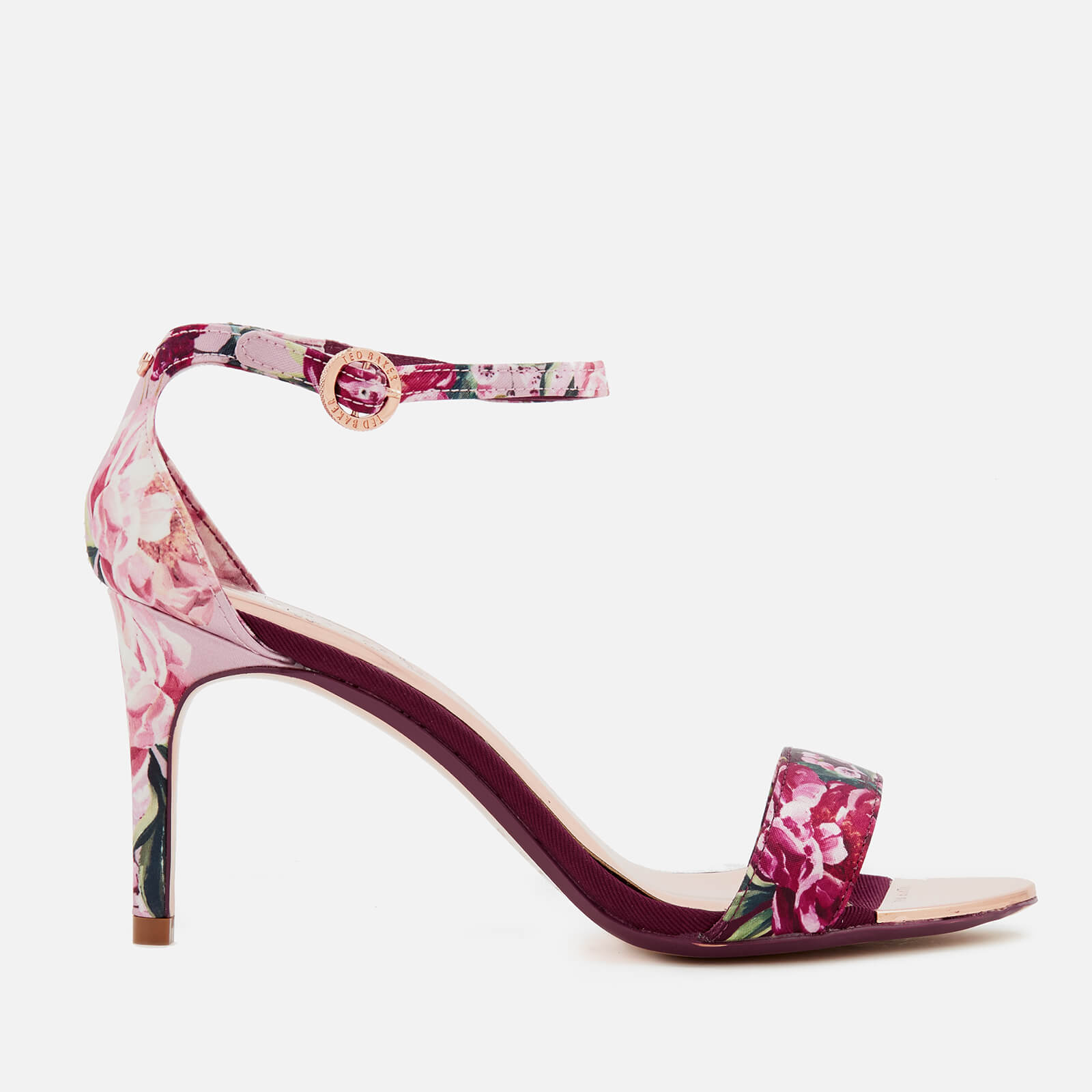 07cb97edc Ted Baker Women s Mylli Barely There Heeled Sandals - Serenity  Satin Textile Womens Footwear