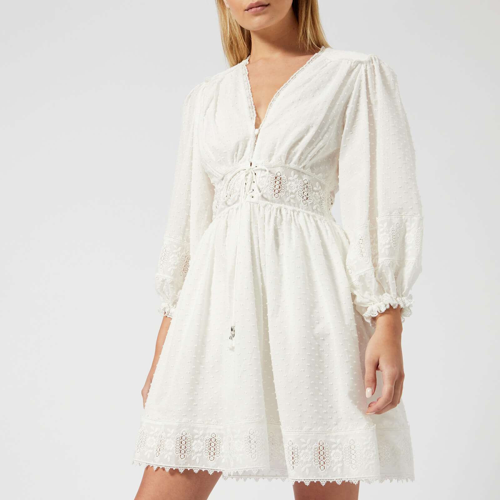 db69e2357ca Zimmermann Women s Iris Corset Waist Dress - Ivory - Free UK Delivery over £ 50
