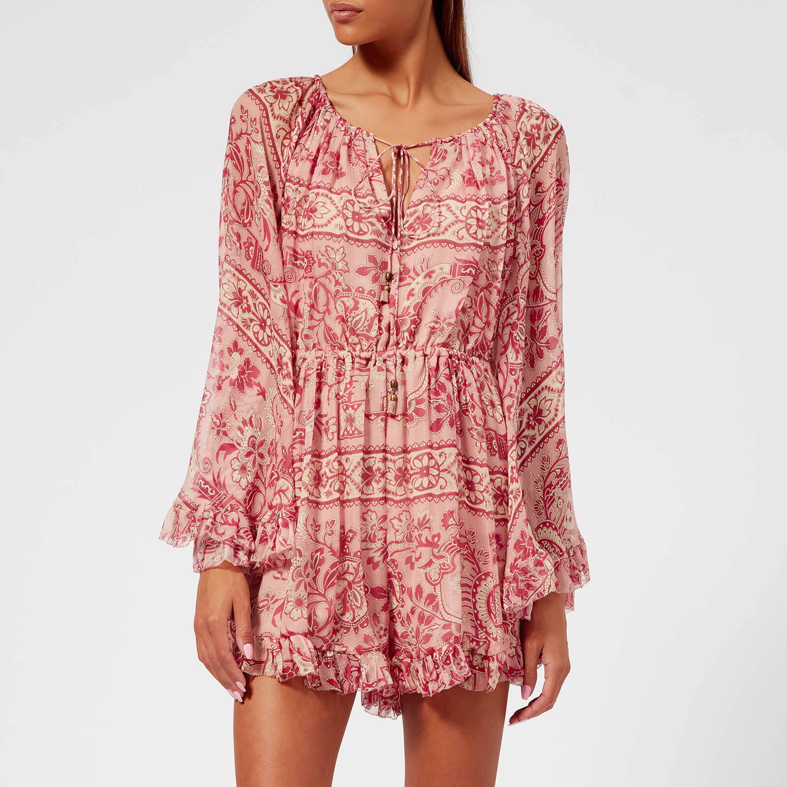 579be5eb7c Zimmermann Women s Castile Flared Sleeve Playsuit - Filigree Stripe - Free  UK Delivery over £50