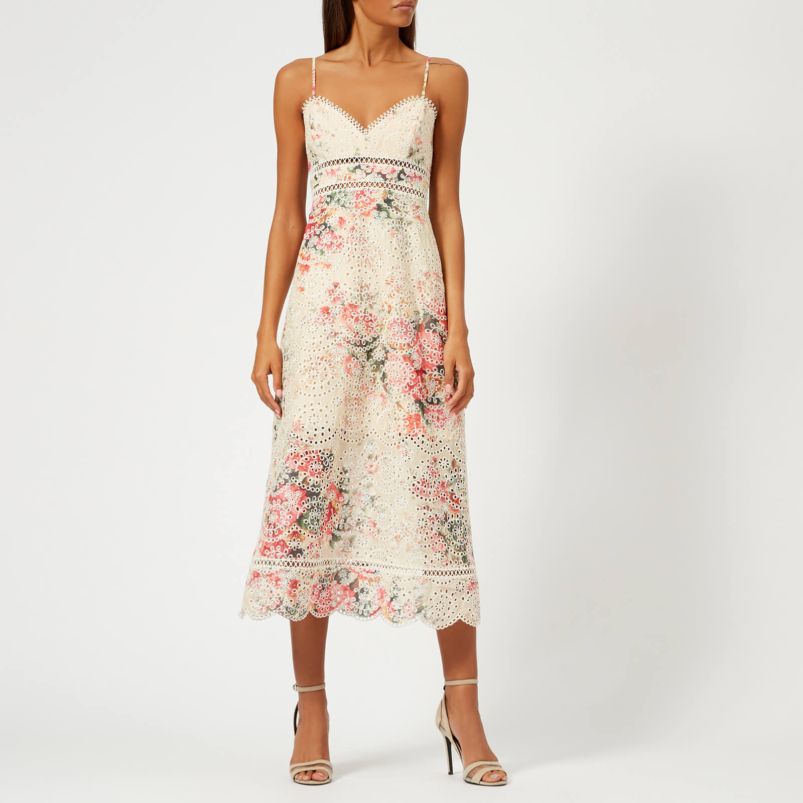 5cd3b8da865fc Zimmermann Women s Laelia Diamond Bralette Dress - Meadow Floral - Free UK  Delivery over £50