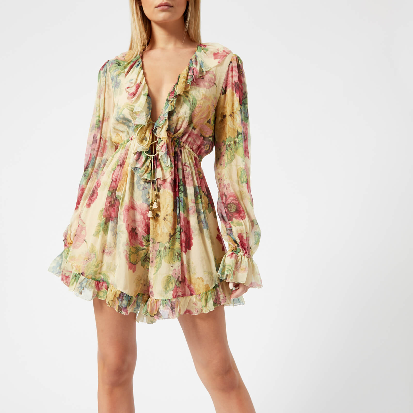 09be67cc38 Zimmermann Women s Melody Floating Playsuit - Taupe Floral - Free UK ...