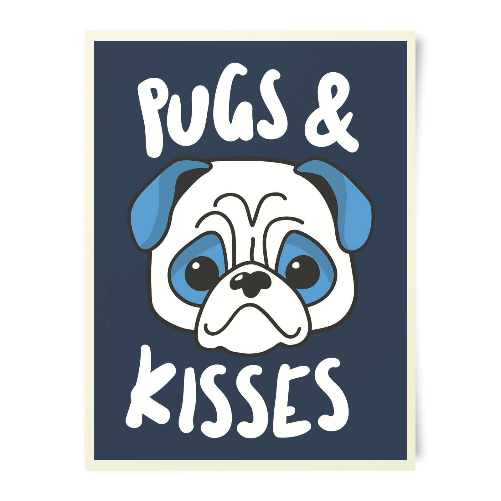 Pugs & Kisses Art Print