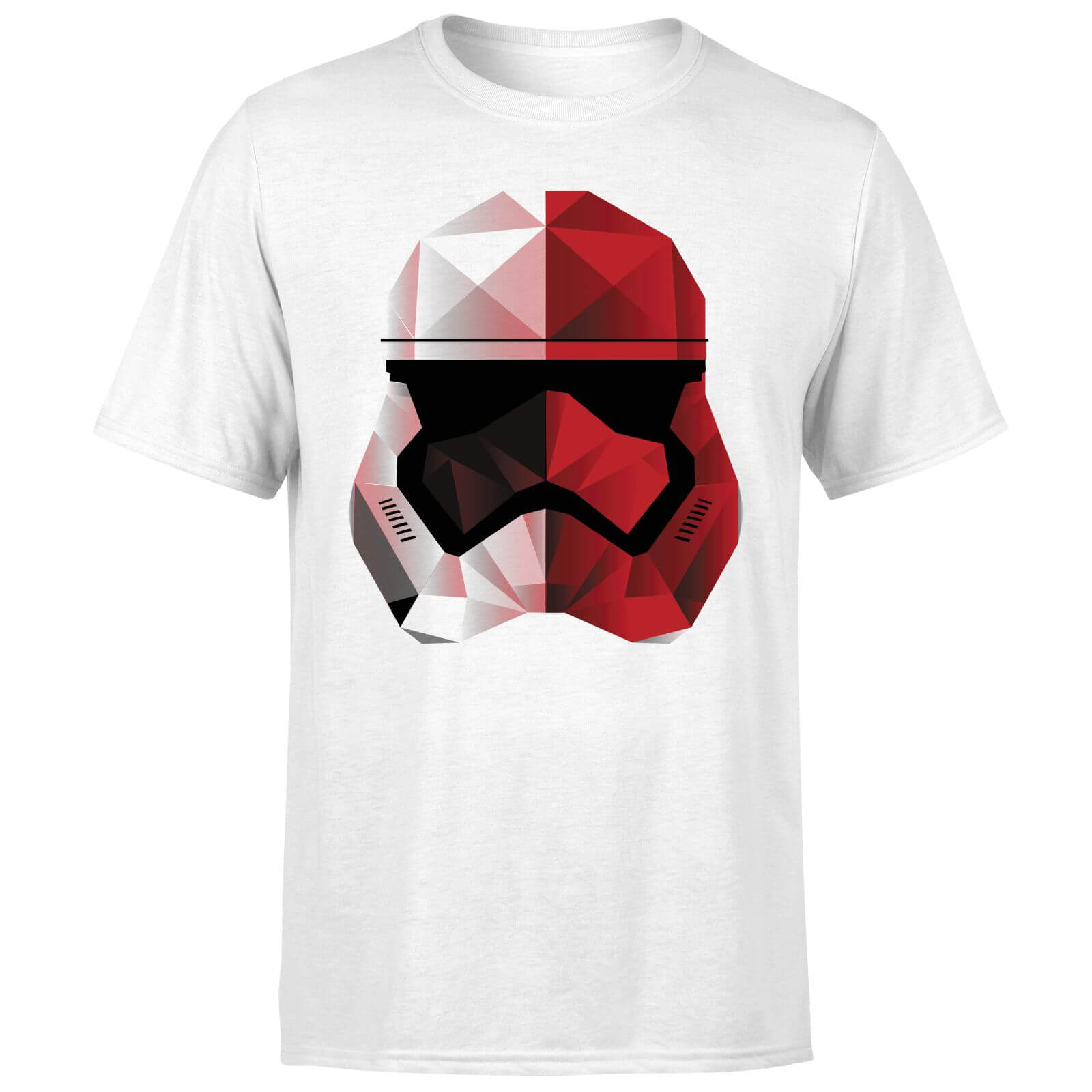 Star Wars Cubist Trooper Helmet White T-Shirt - White