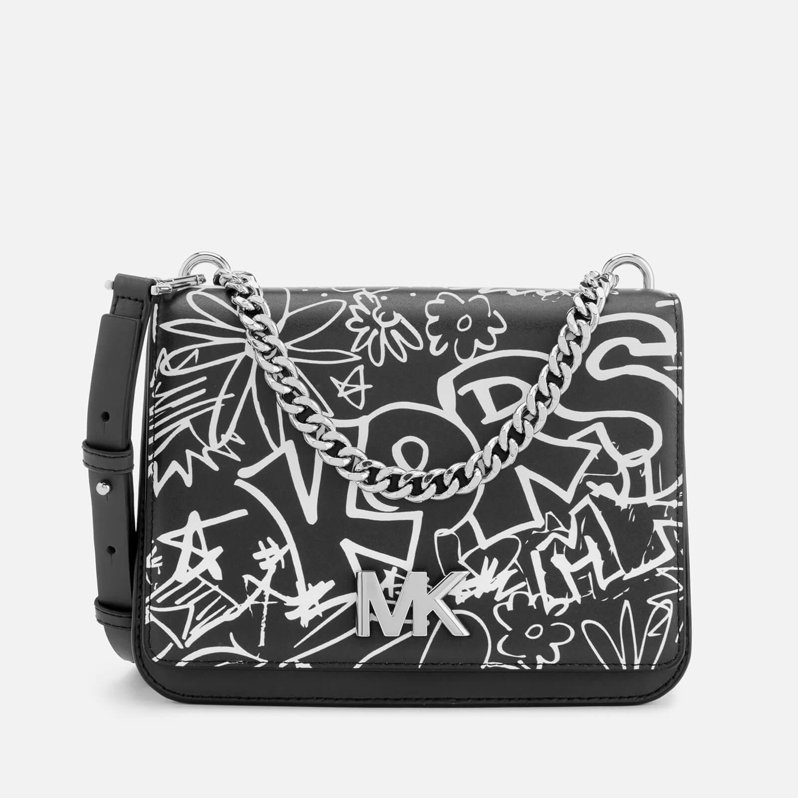 cdd2a25cb036 MICHAEL MICHAEL KORS Women's Graffiti Calia Leather Cross Body Bag - Black  - Free UK Delivery over £50