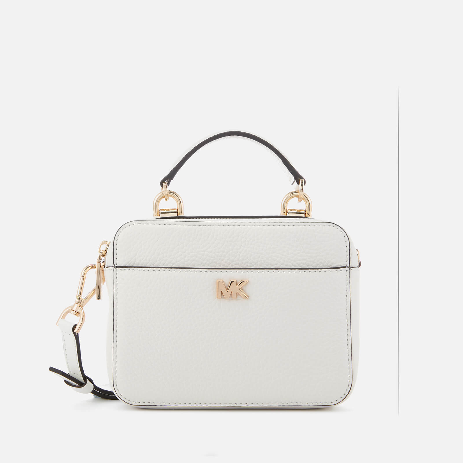 a46d31bf0148 MICHAEL MICHAEL KORS Women's Mini Guitar Strap Cross Body Bag - Optic White  - Free UK Delivery over £50