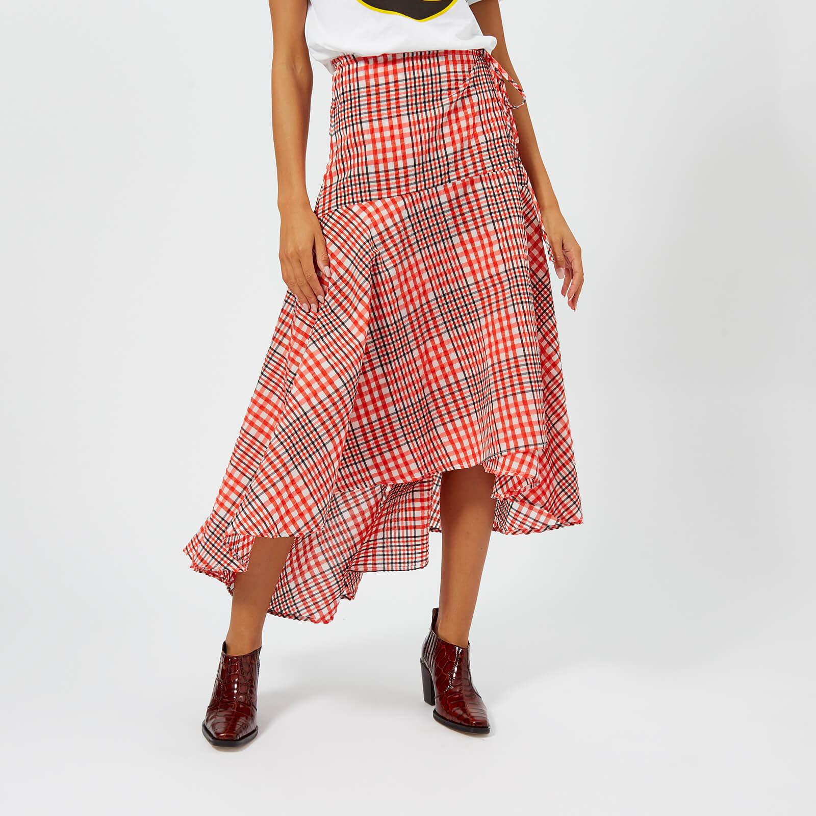 ae4efaf248 Ganni Women's Charron Skirt - Big Apple Red - Free UK Delivery over £50
