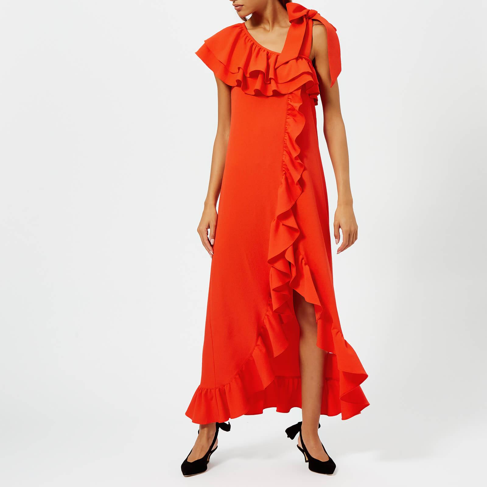 22e9411e59427 Ganni Women's Clark Dress - Big Apple Red - Free UK Delivery over £50