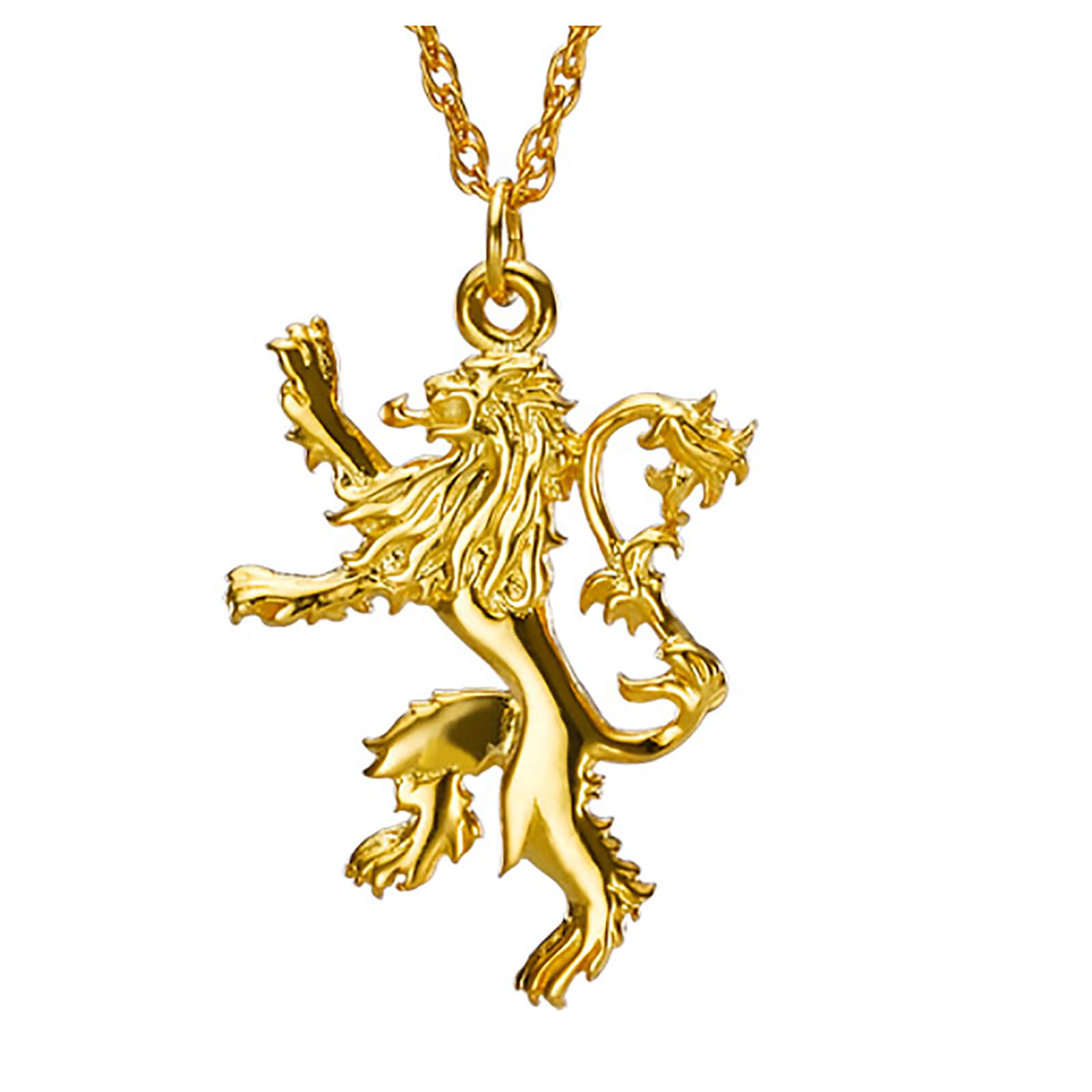 Game of Thrones Gold Plated House Lannister Sterling Silver Pendant