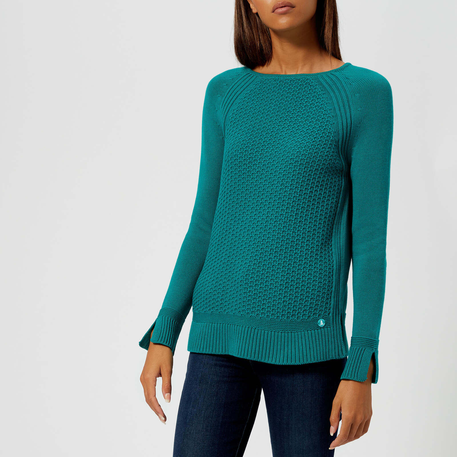 18d6350e5dfaf8 Barbour Women's Bridport Knitted Jumper - Seaglass Womens Clothing |  TheHut.com