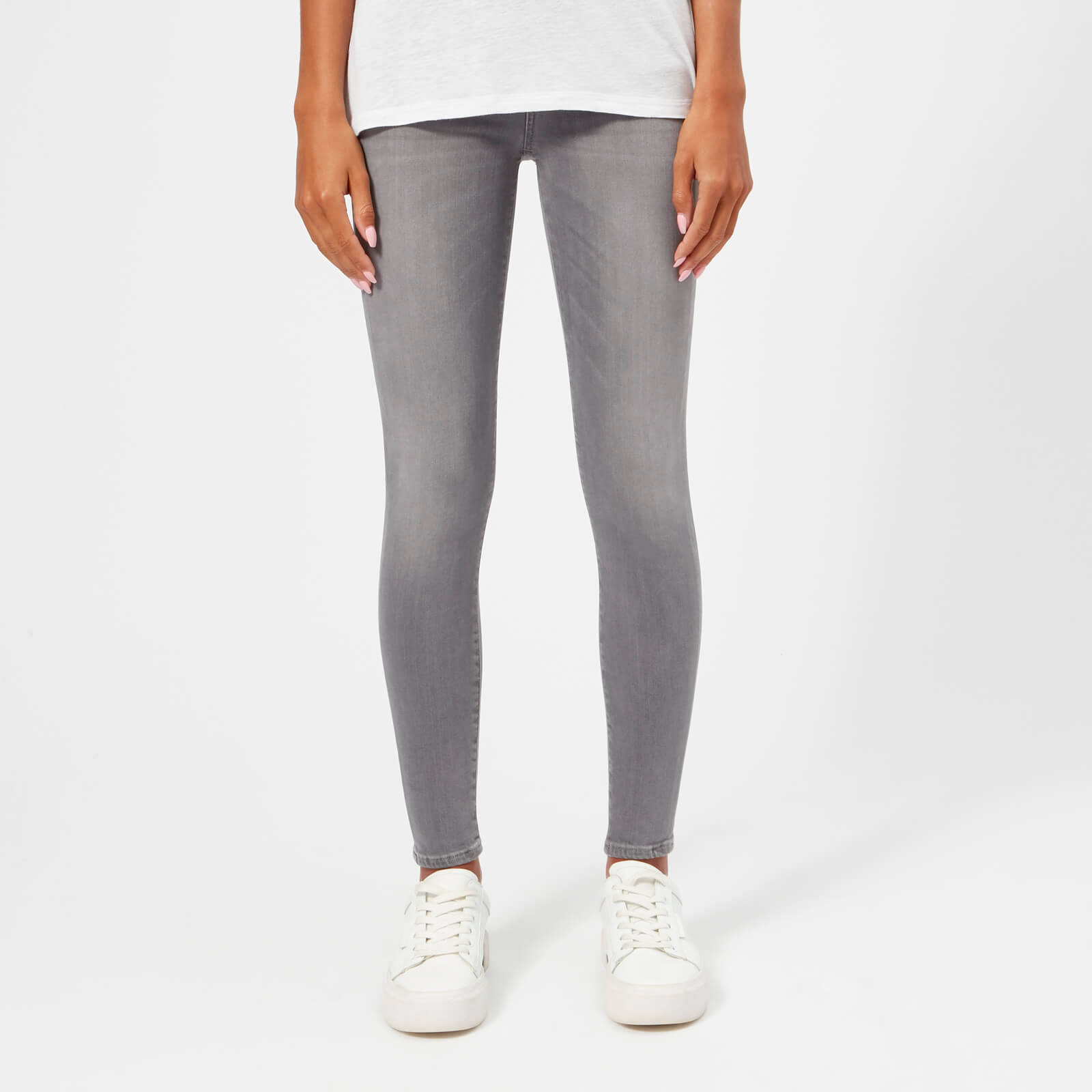 0120f31ab5cf23 7 For All Mankind Women's The Skinny Crop Jeans - Grey Clothing | TheHut.com
