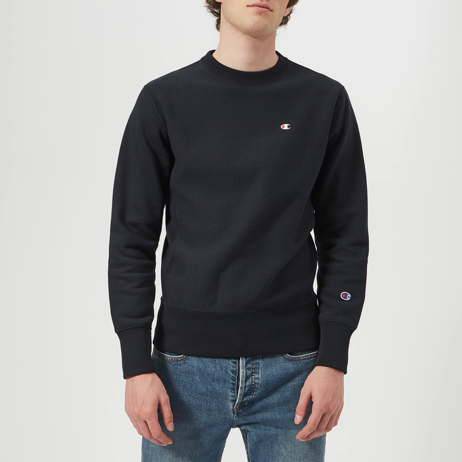 cde6e79f Champion Men's Crew Neck Sweatshirt - Navy Mens Clothing   TheHut.com