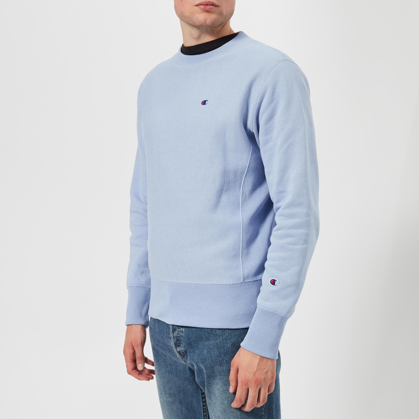 905d748160e8b0 Champion Men's Crew Neck Sweatshirt - Light Blue Mens Clothing | TheHut.com