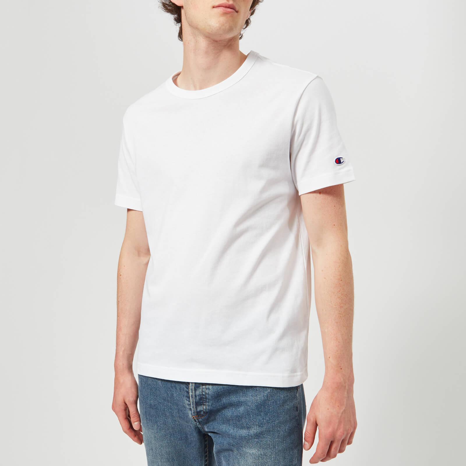 e8a0daa84e72 Champion Men's Crew Neck T-Shirt - White Clothing | TheHut.com