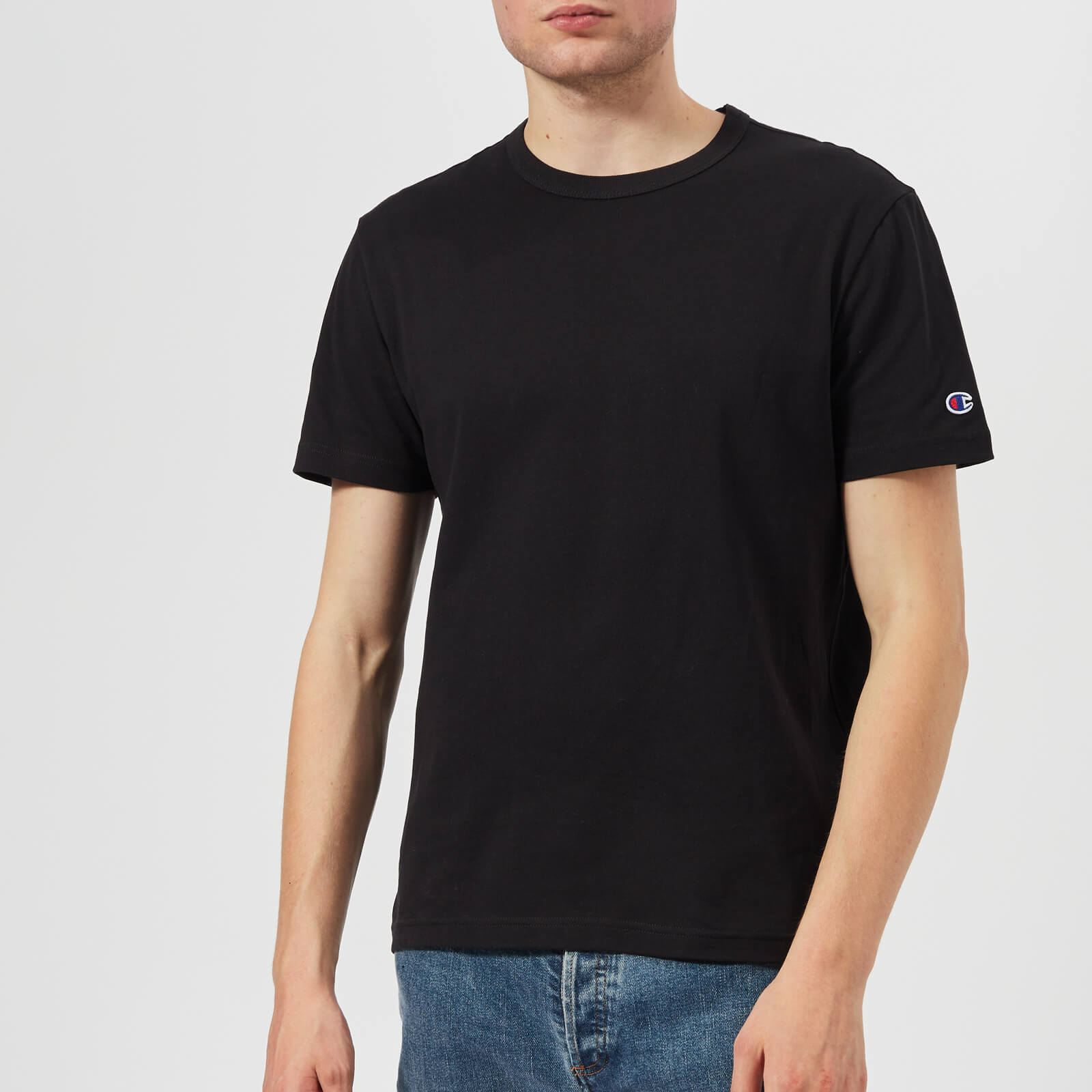 efe9baa8d194 Champion Men s Crew Neck T-Shirt - Black - Free UK Delivery over £50