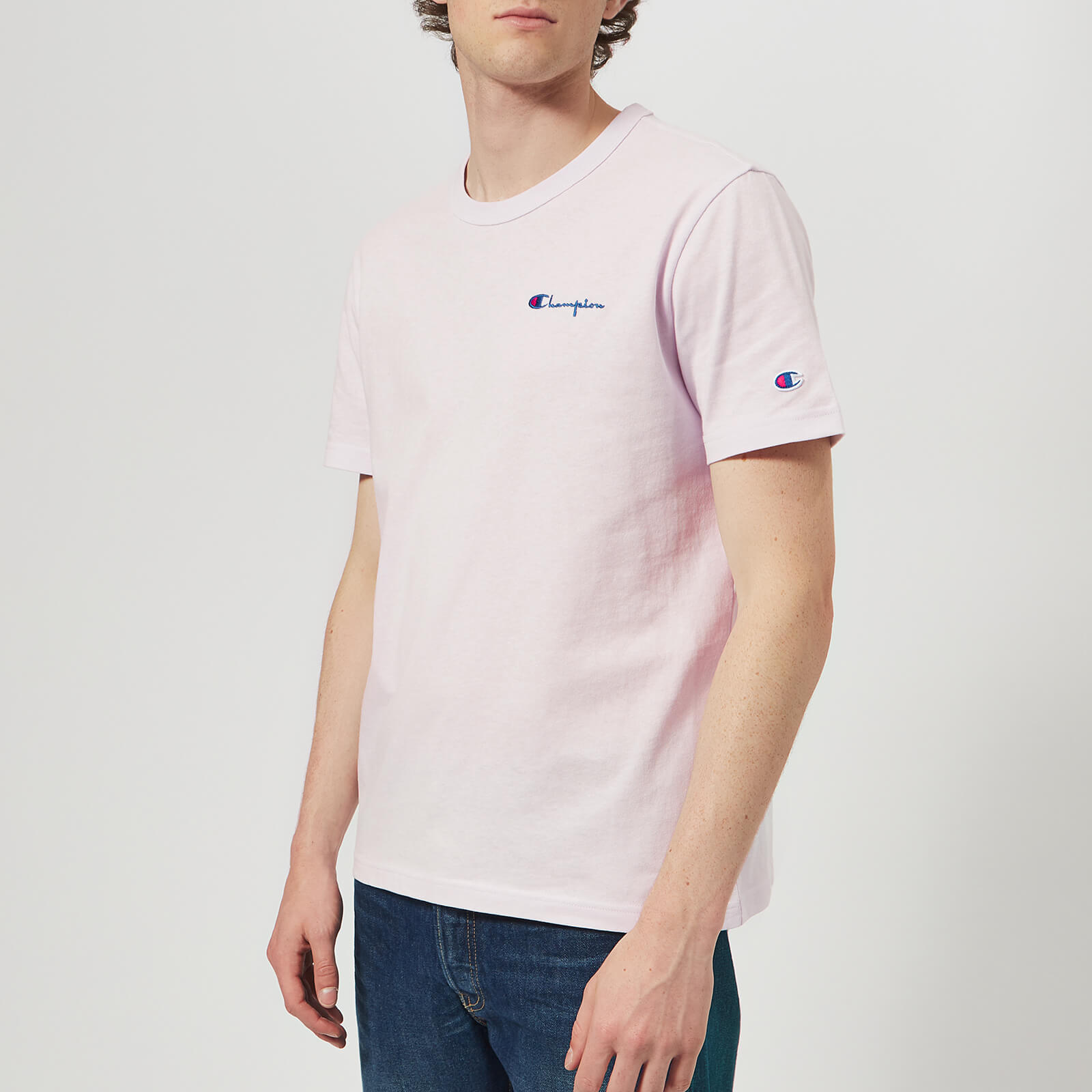 a3425923 Champion Men's Short Sleeve T-Shirt - Lavender - Free UK Delivery over £50