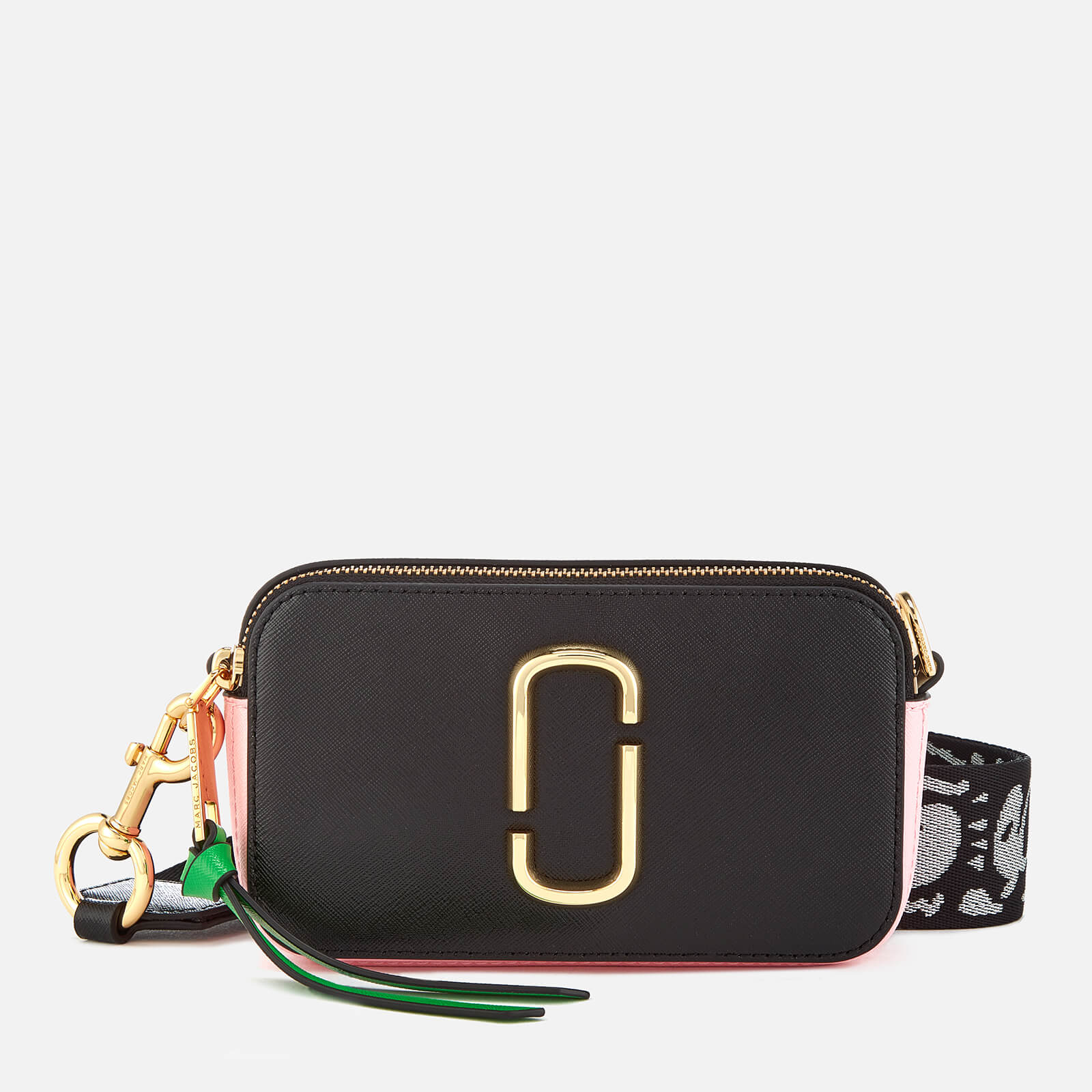 9bc890740e1d Marc Jacobs Women s Snapshot Cross Body Bag - Black Baby Pink - Free ...