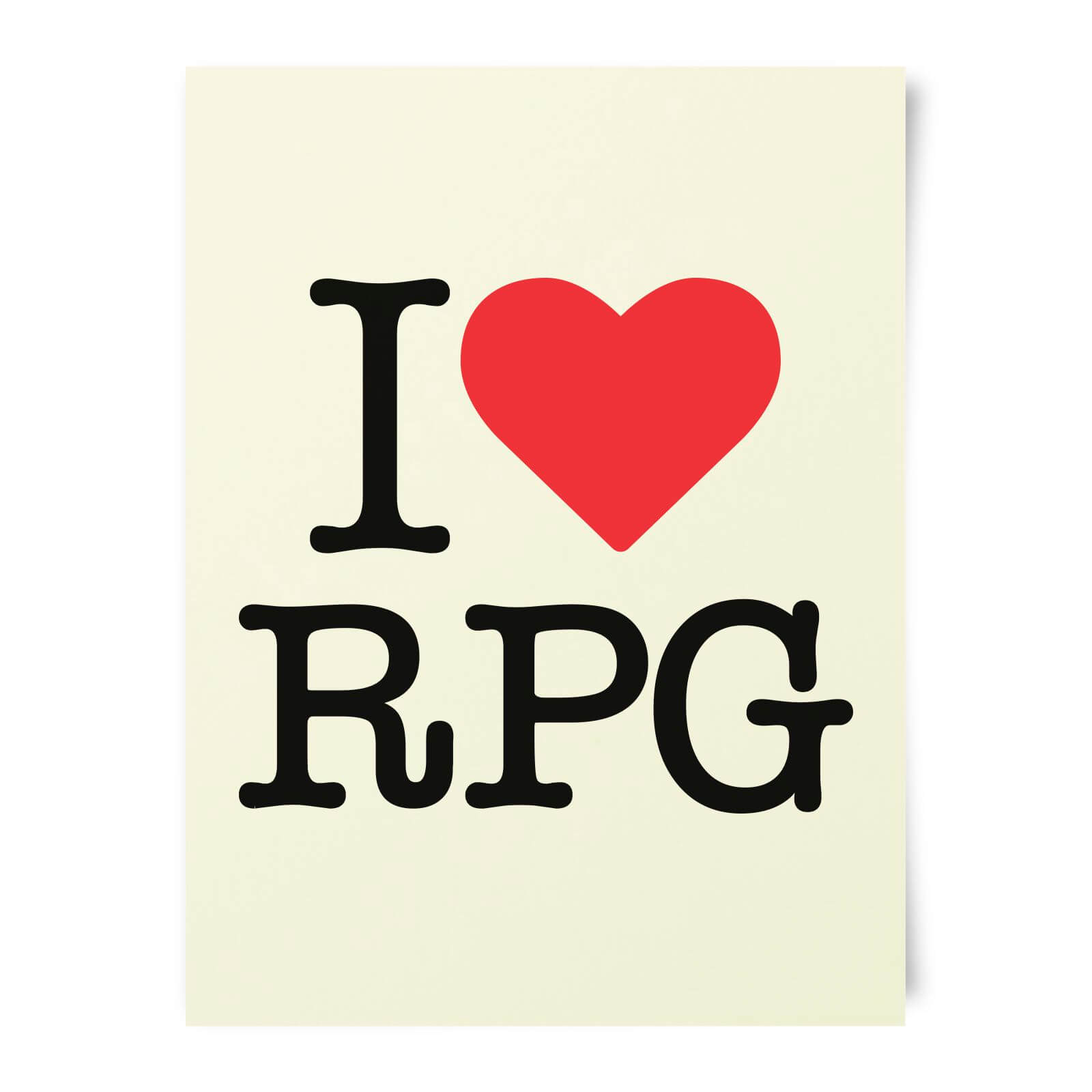I Love RPG Art Print