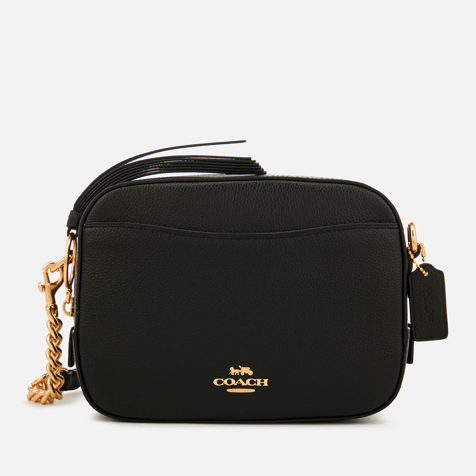 3b784778078f Coach Women s Polished Pebble Leather Camera Bag - Black - Free UK Delivery  over £50