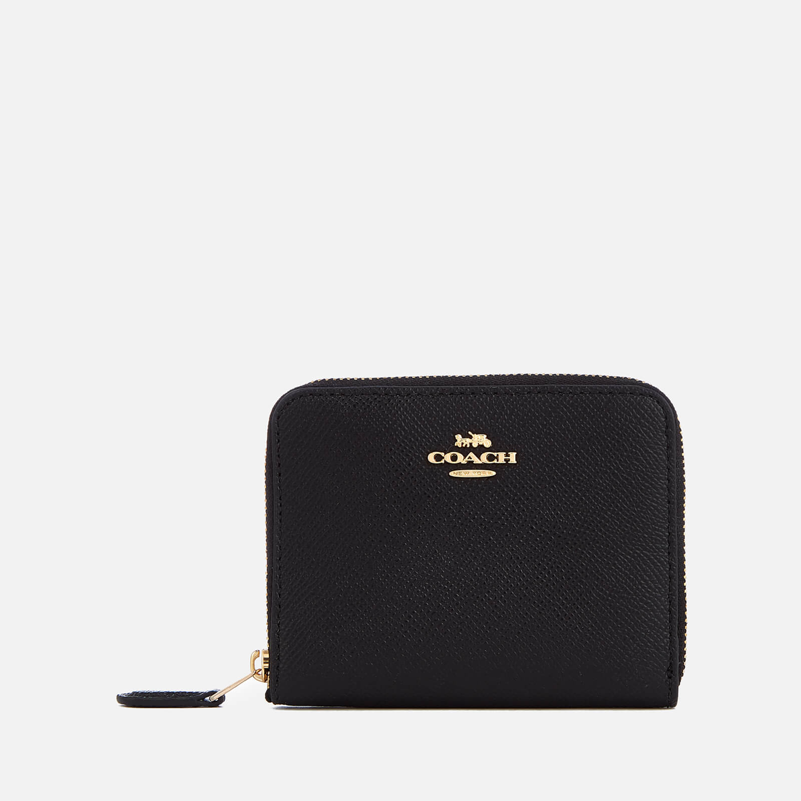 fc5dcc0ab7 Coach Women s Crossgrain Leather Small Zip Around Wallet - Black - Free UK  Delivery over £50