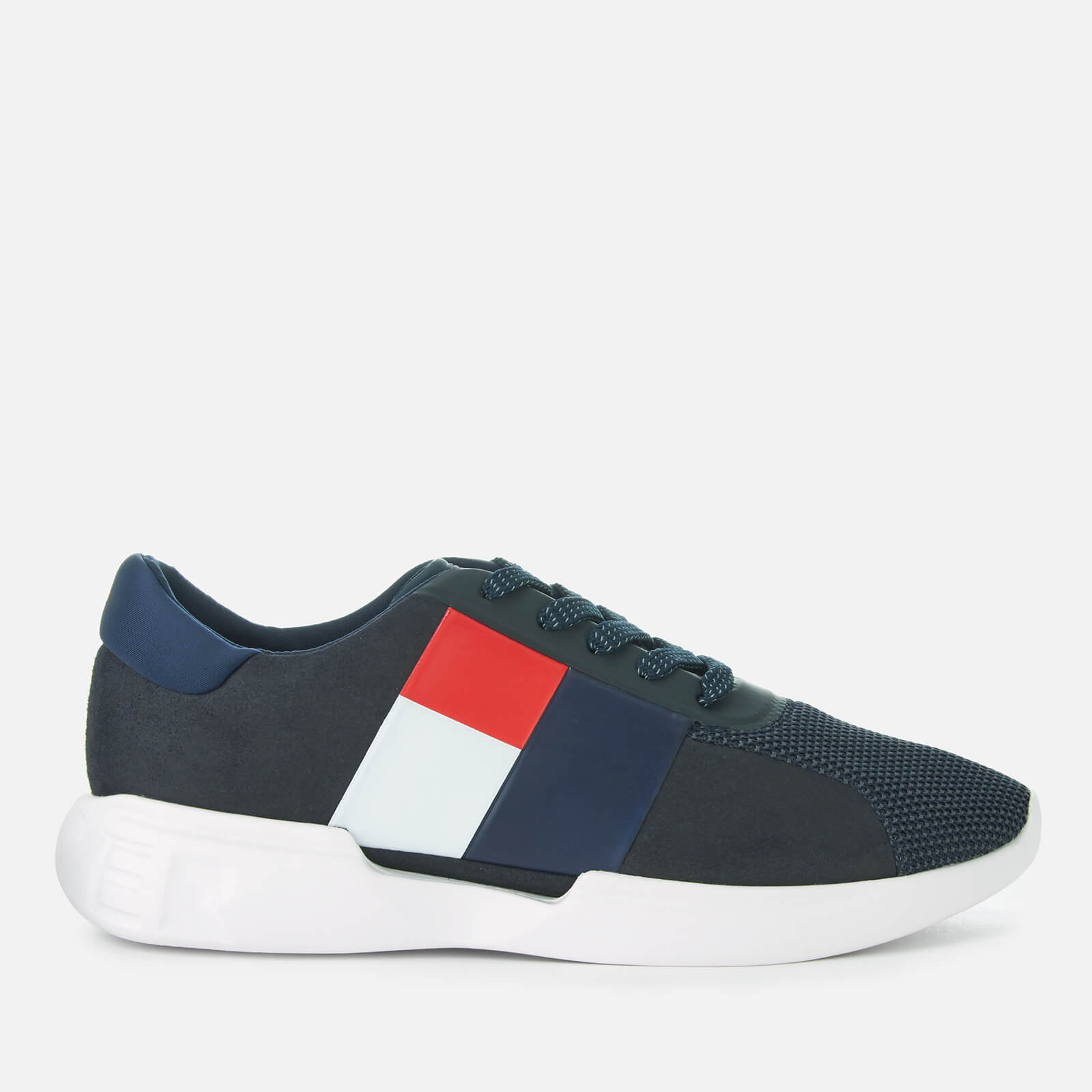 059a9e45926f Tommy Hilfiger Men s Lightweight Runner Style Trainers - Midnight Mens  Footwear