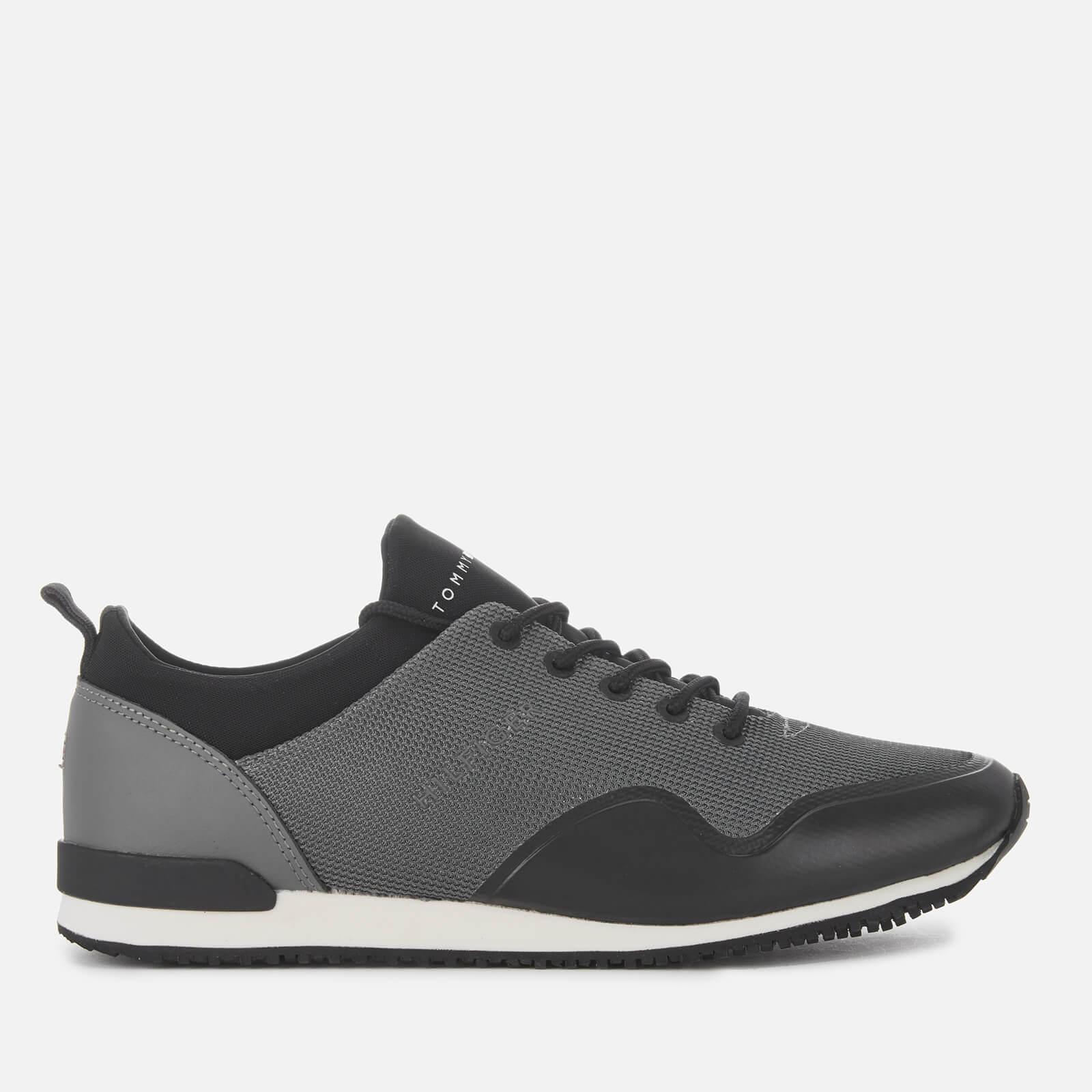 14afa23f5e8 Tommy Hilfiger Men's Iconic Neoprene Sock Runner Style Trainers - Steel Grey