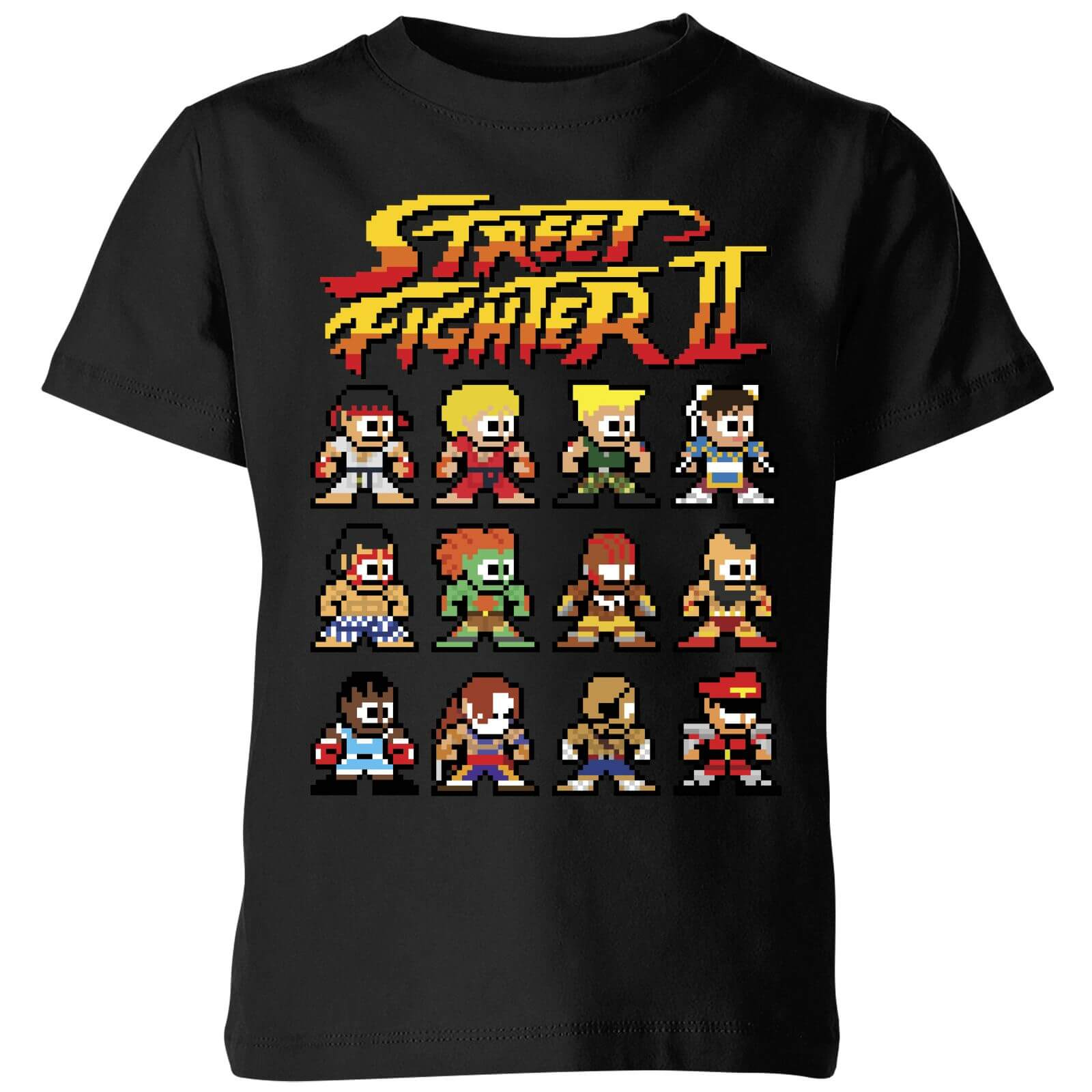 Street Fighter 2 Pixel Characters Kids