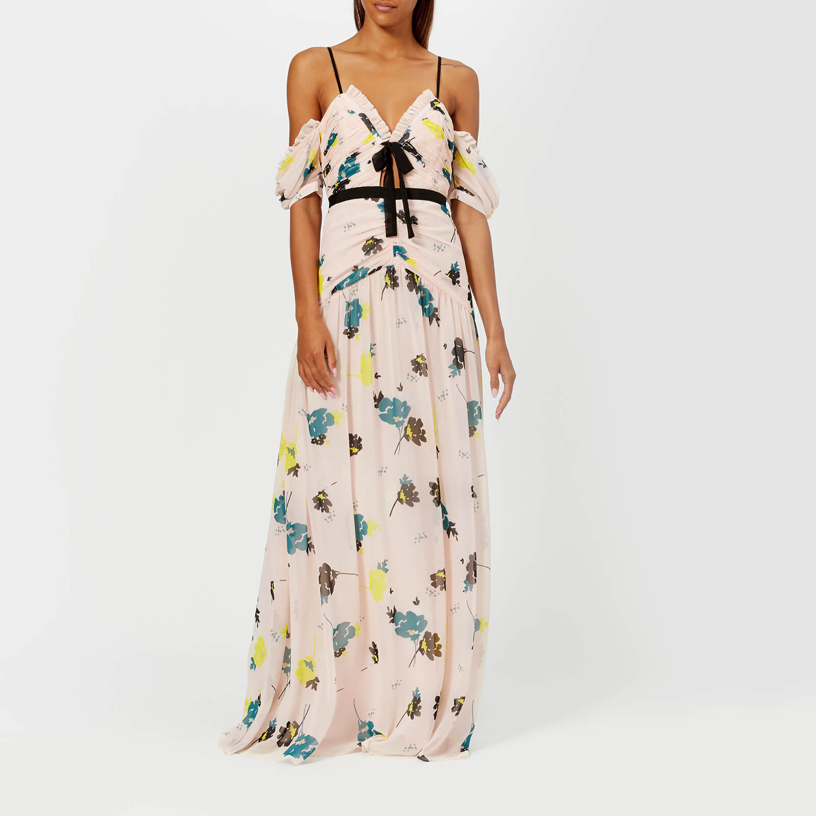 fab06a1ba94b6 Self-Portrait Women's Graphic Floral Print Maxi Dress - Pink - Free UK  Delivery over £50