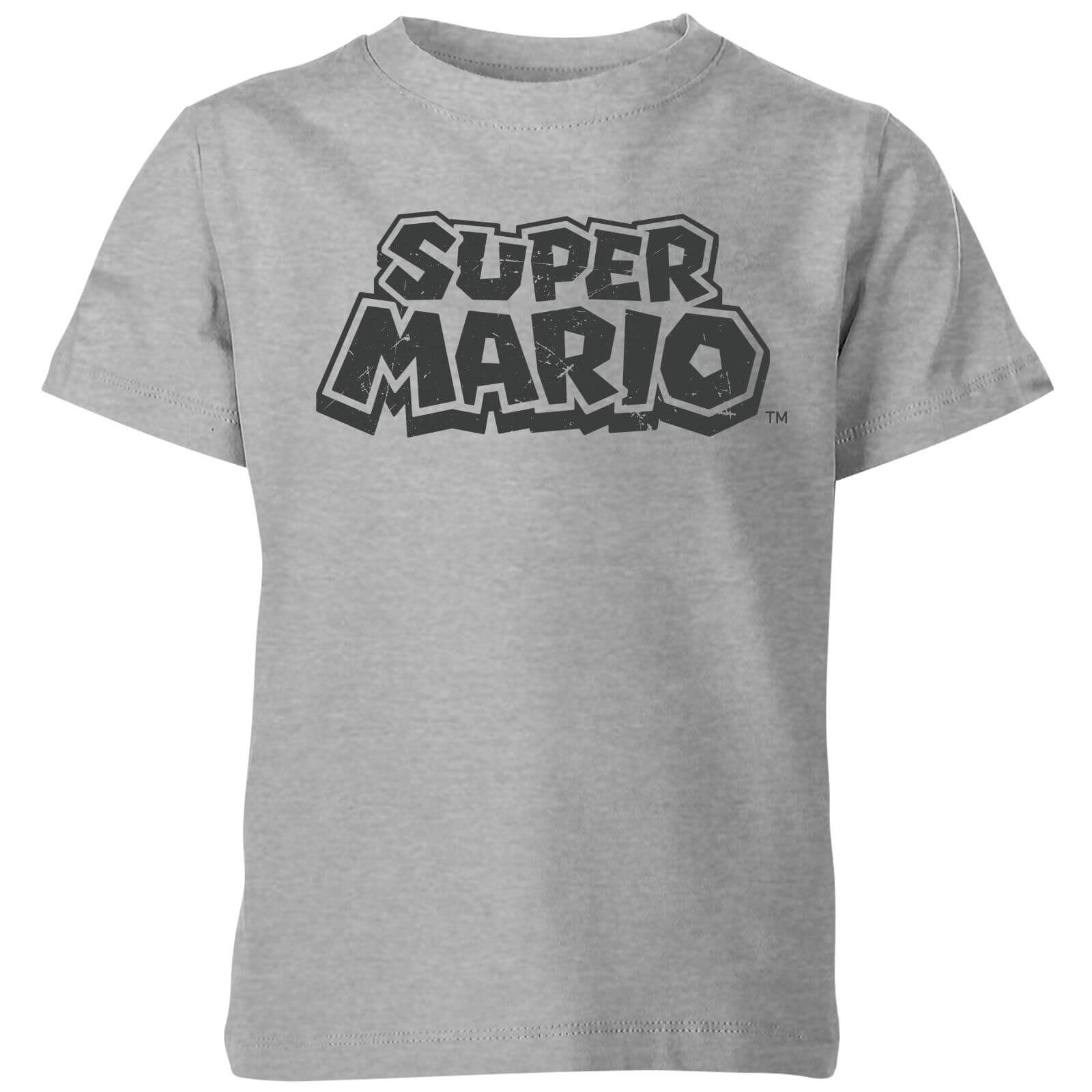 Nintendo Super Mario Distressed Logo T-Shirt Kids