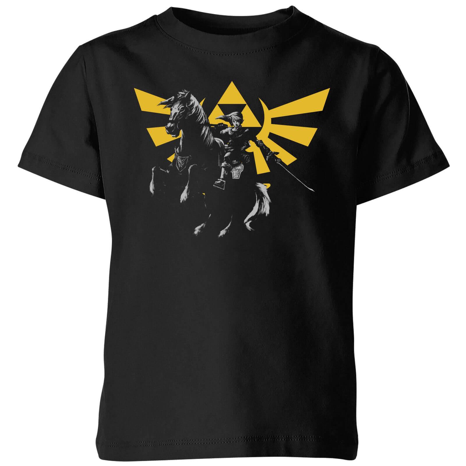 d1cb00f5c Nintendo The Legend Of Zelda Hyrule Link Kid's T-Shirt - Black Clothing |  Zavvi