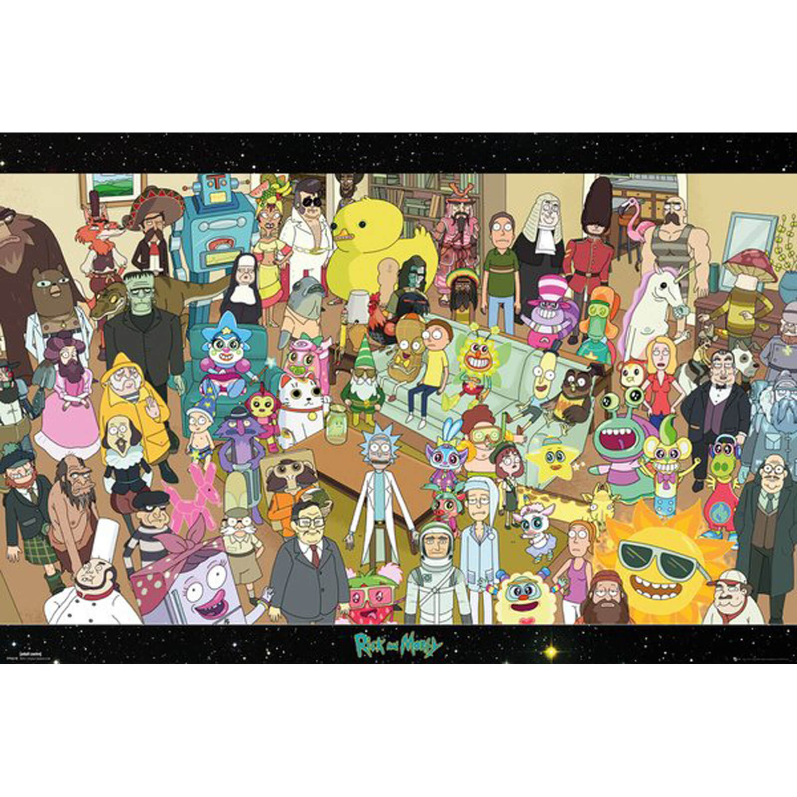 Rick and Morty Cast Maxi Poster 61 x 91.5cm