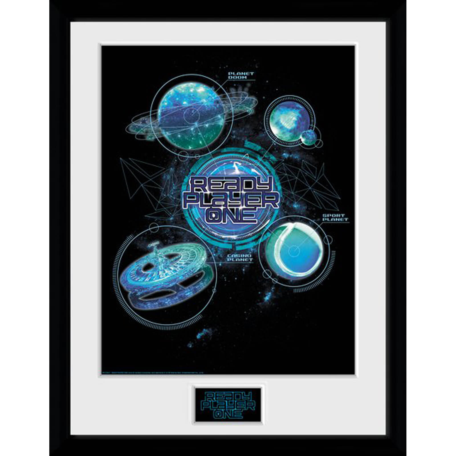 Ready Player One Planets 12 x 16 Inches Framed Photograph