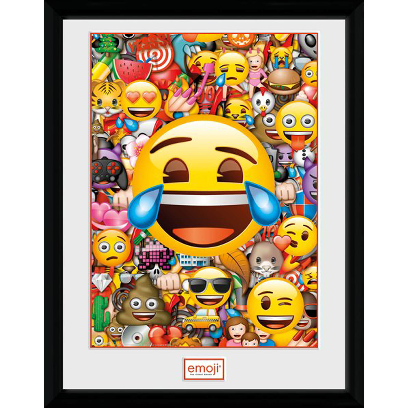 Emoji Collage 12 x 16 Inches Framed Photograph