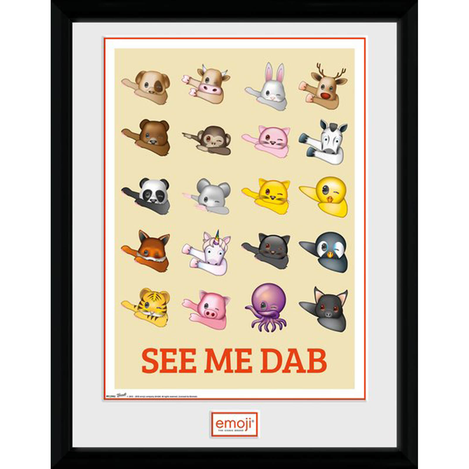 Emoji See Me Dab 12 x 16 Inches Framed Photograph