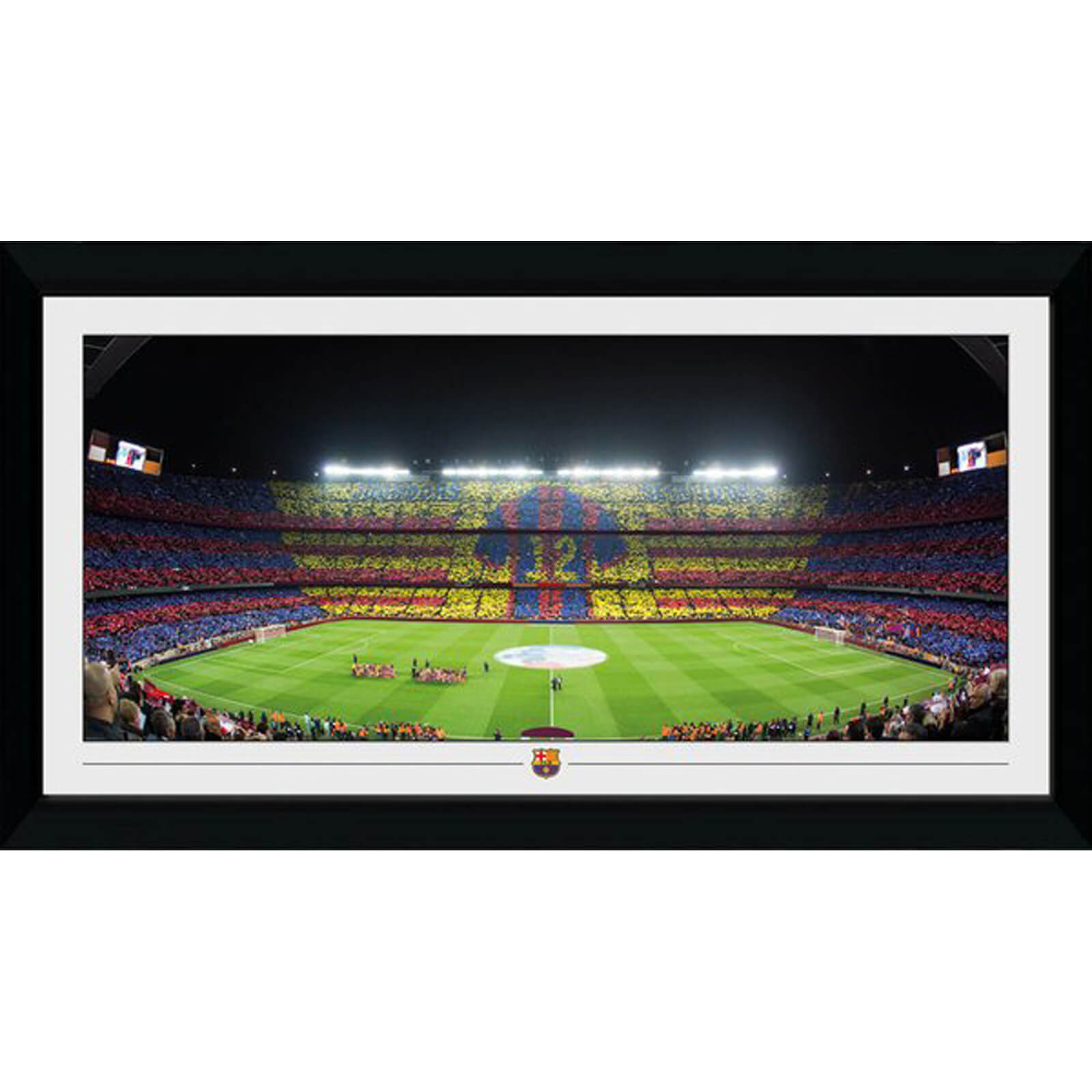 Barcelona Stadium 50 x 100cm Inches Framed Photograph