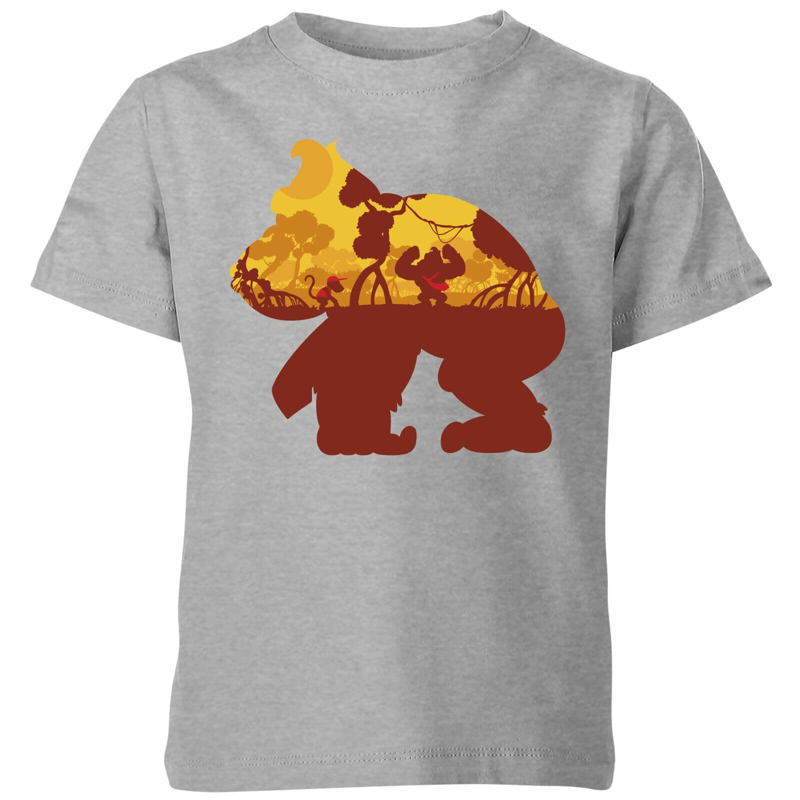 375ee0170615ca Nintendo Donkey Kong Silhouette Mangrove Kid s T-Shirt - Grey